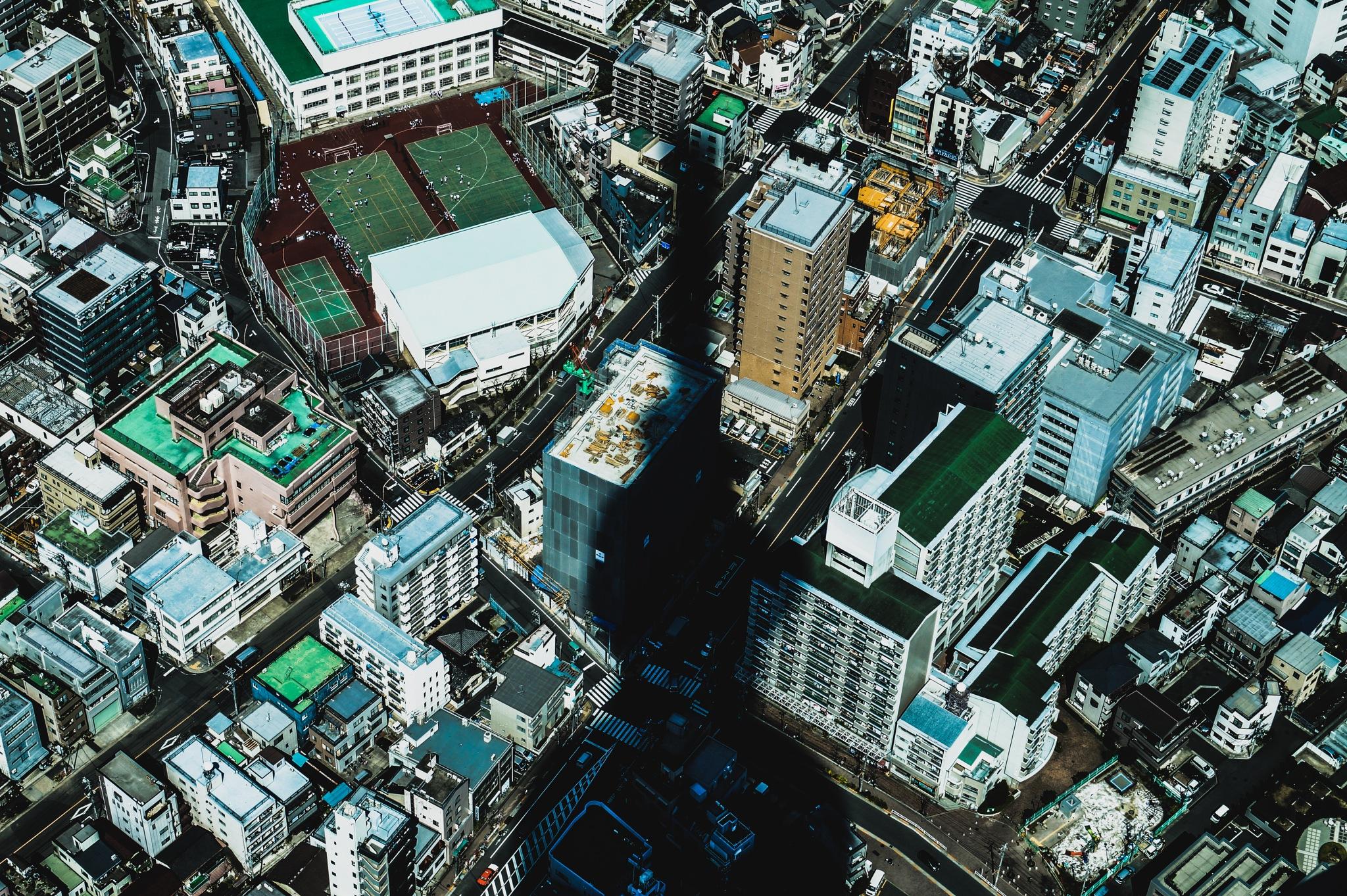 Above Japan by Sergio Vargas