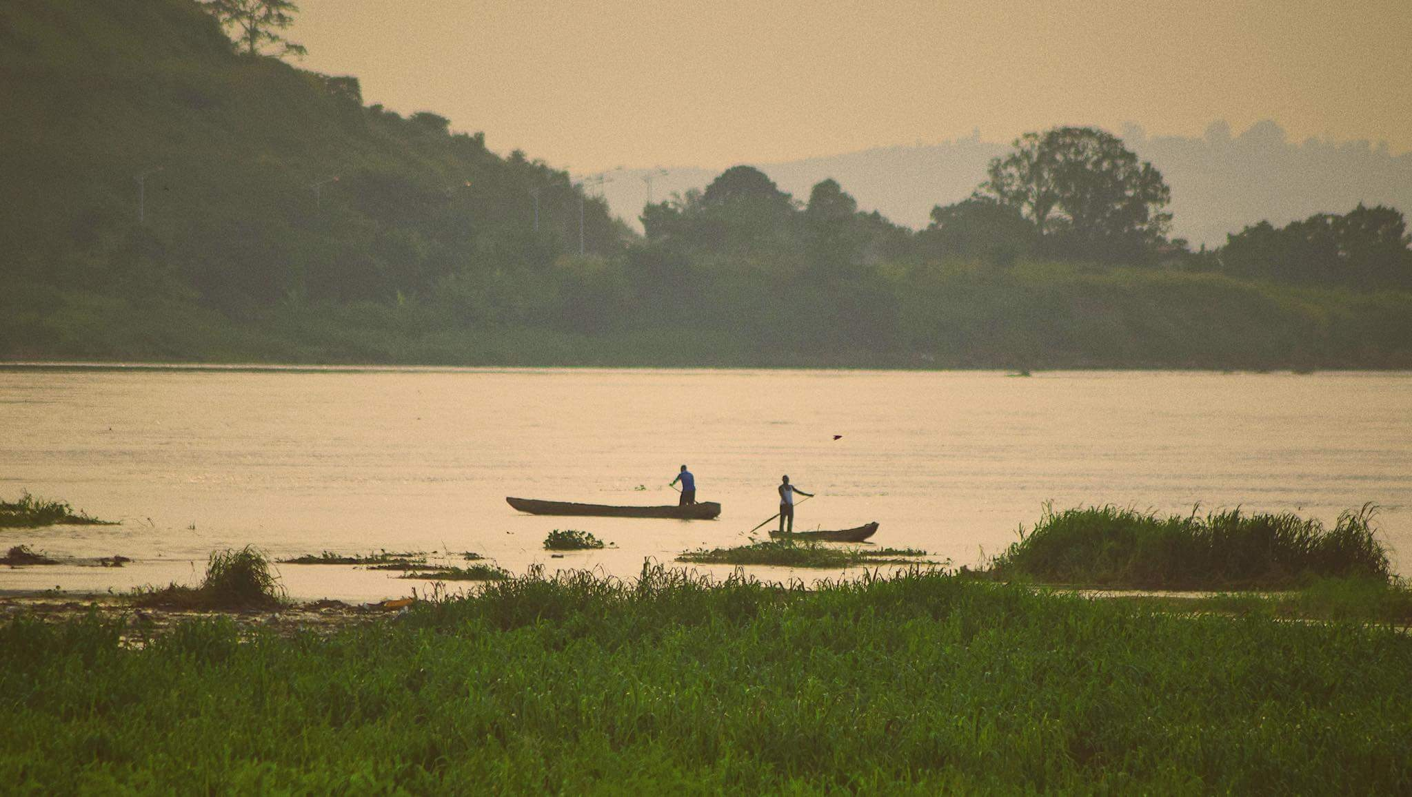 golden hour on the congo river by Badr Bensaid