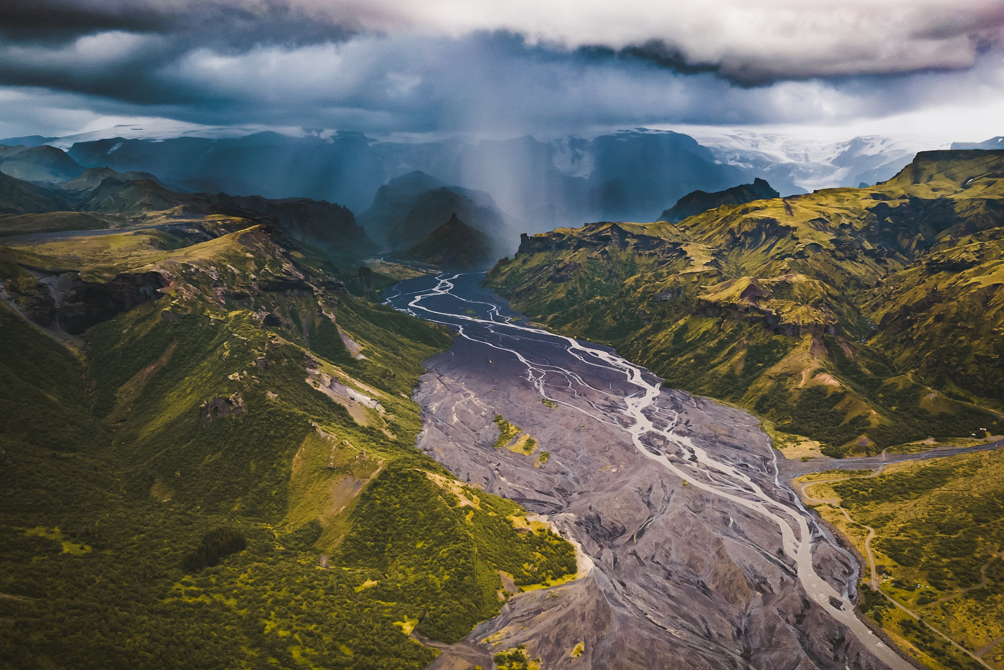 Rain over Þórsmörk  by Adrien BOUCHET