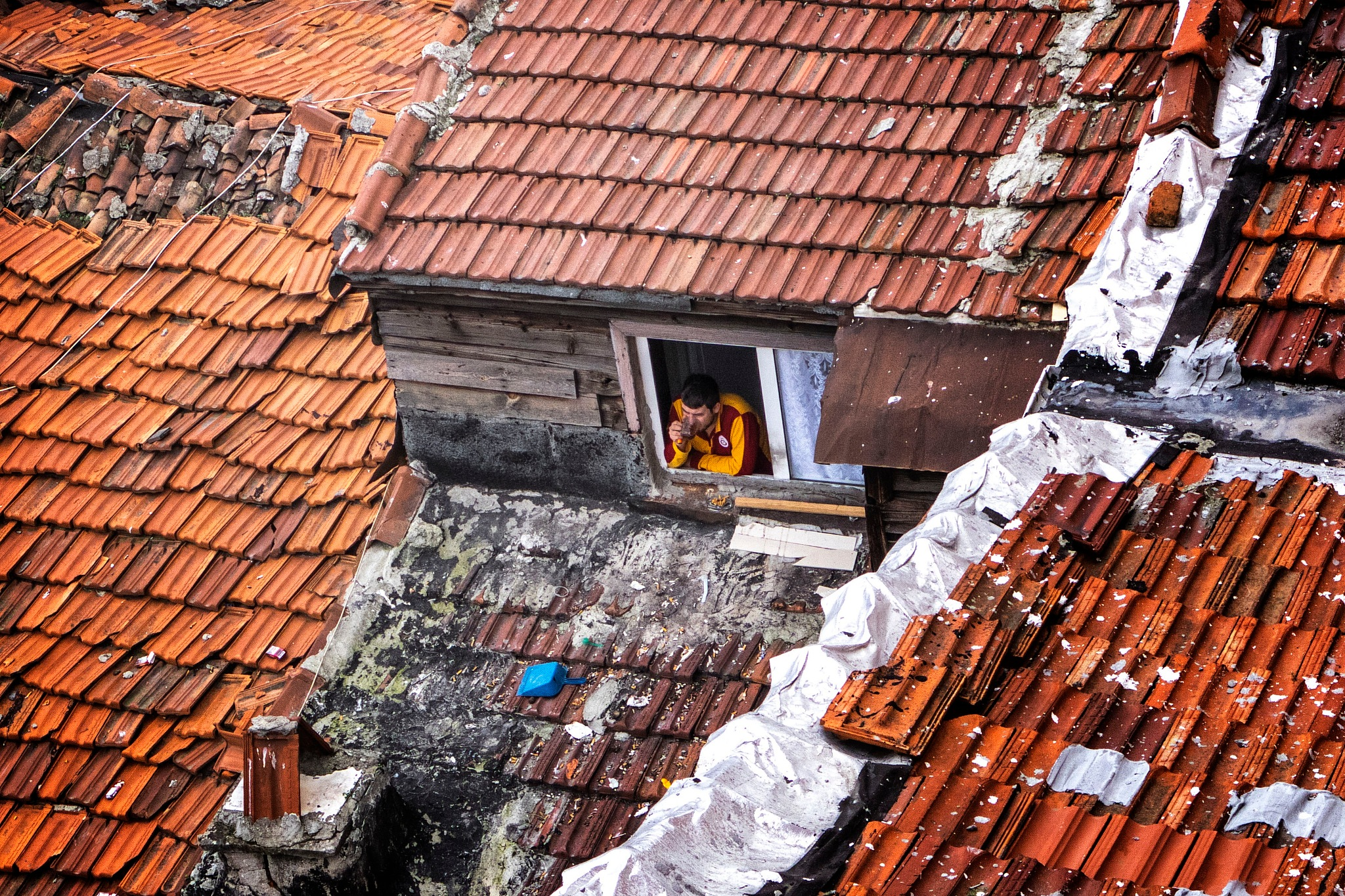 Buildings and people by Eren Cevik