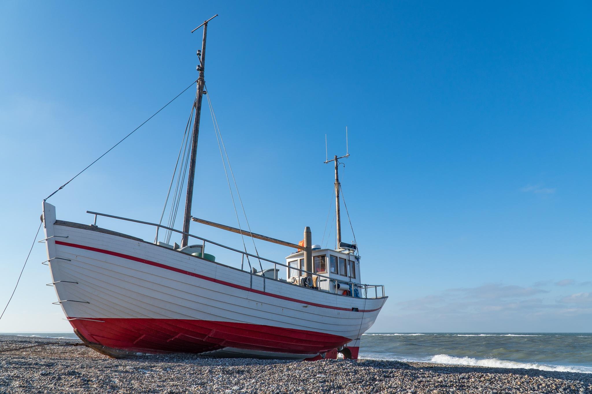 Danish coastal fishing boat by Per Borring