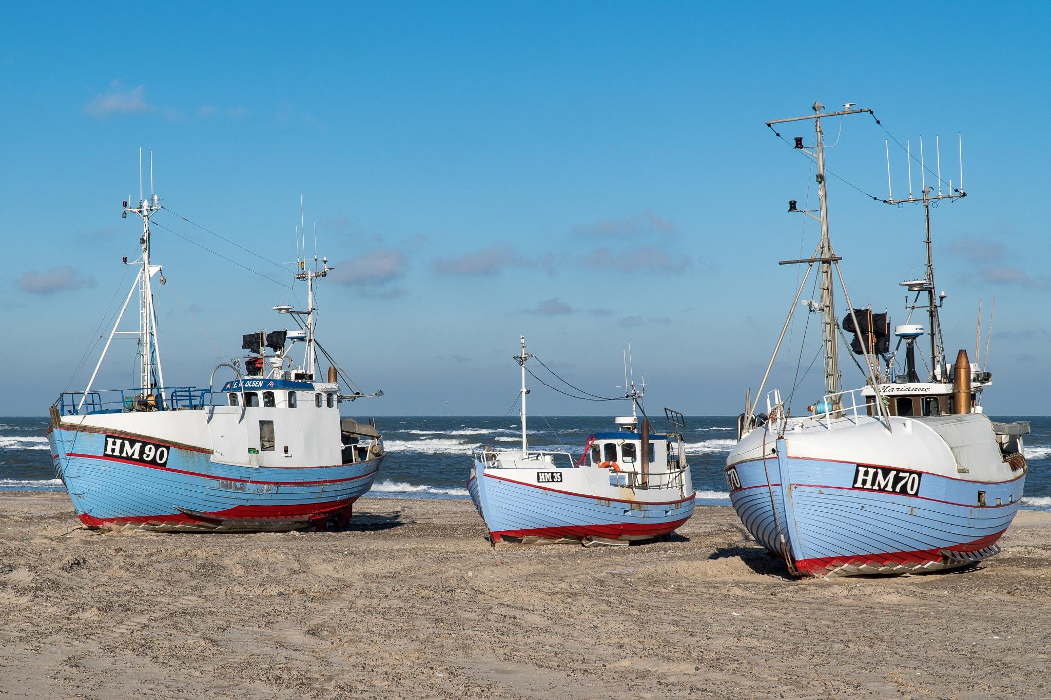 Danish coastal fishing boat II by Per Borring