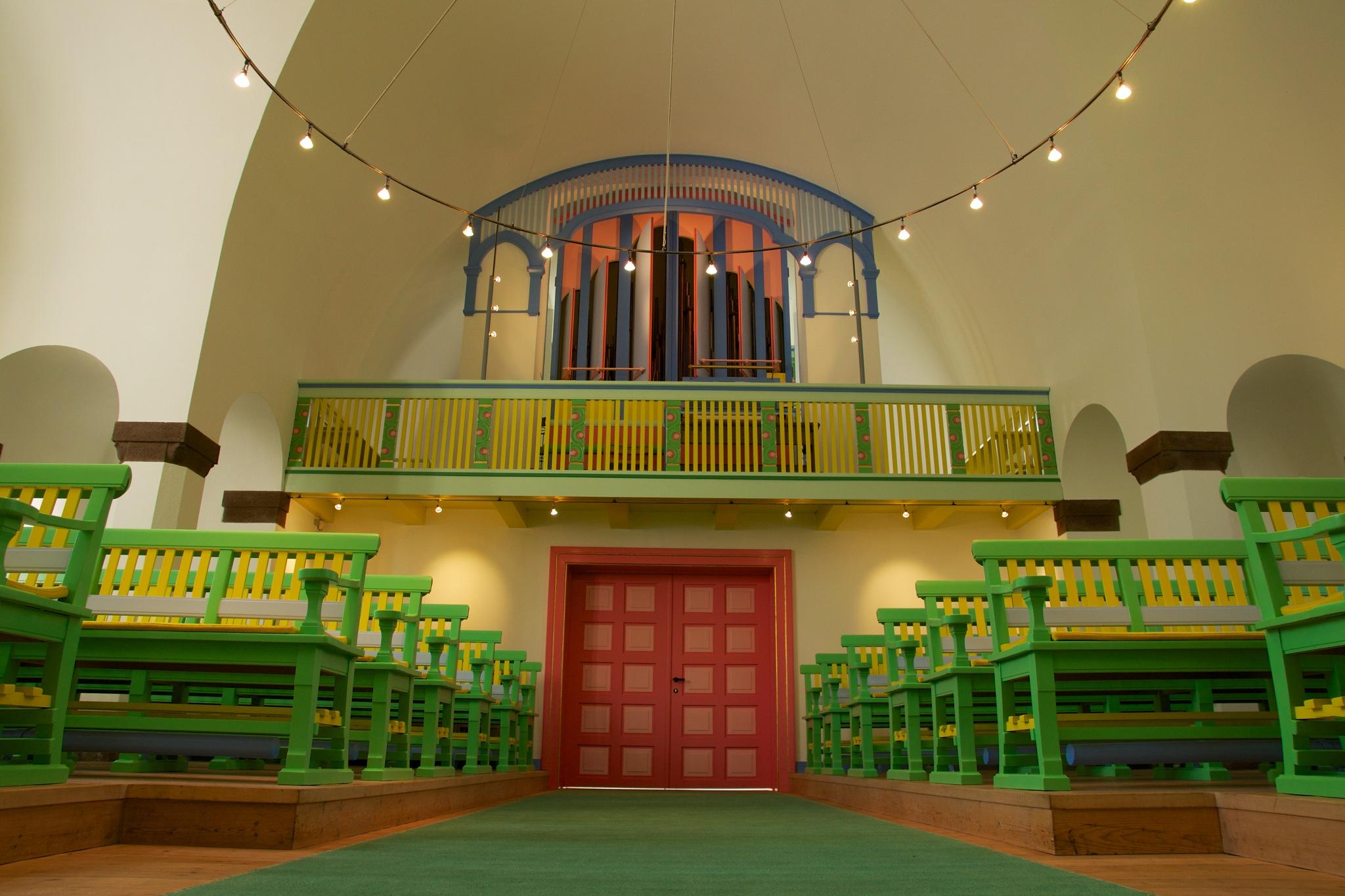 Colorful church by Per Borring