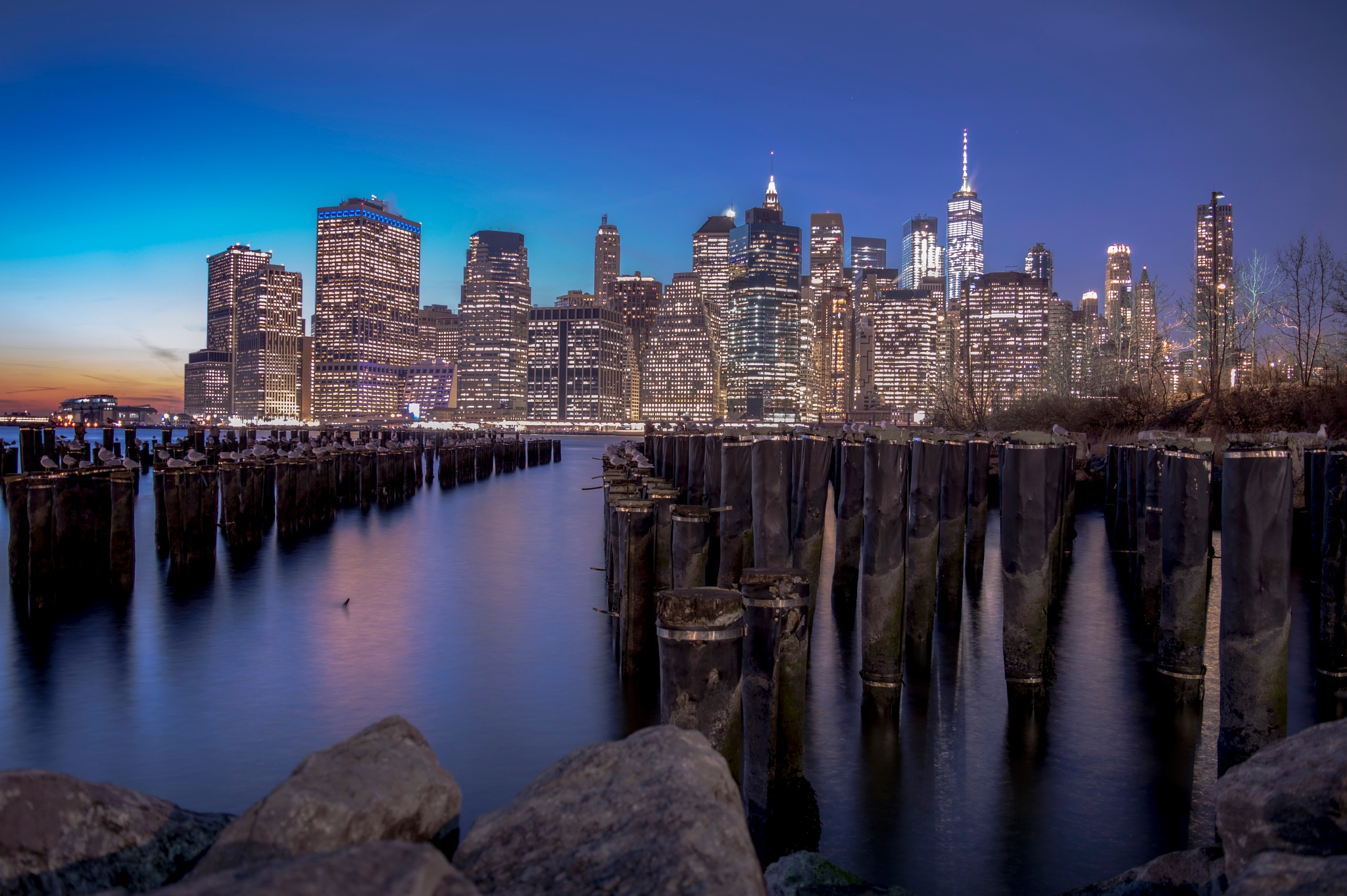 Sunset in New York  by Lucia Conte