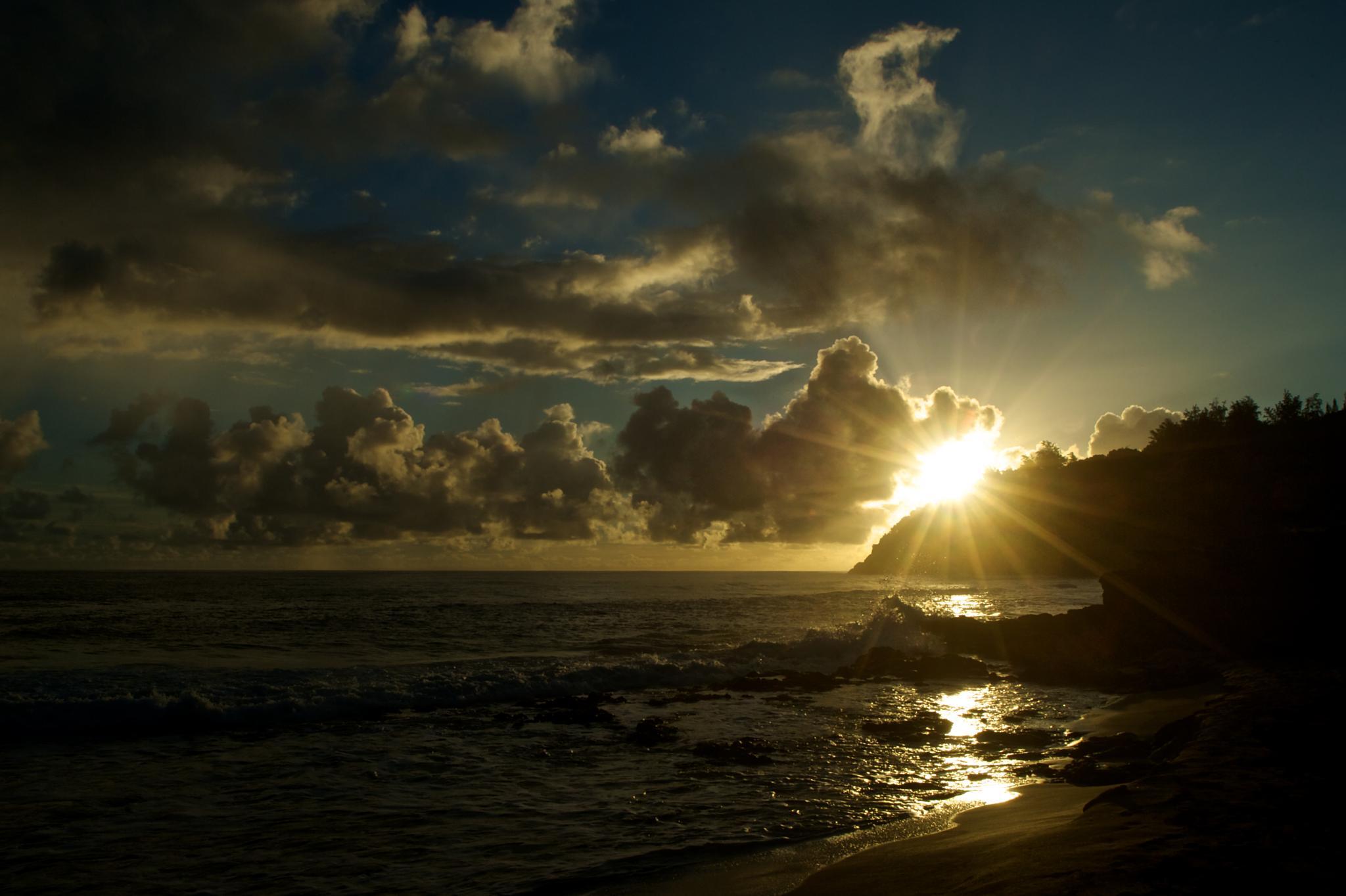 Kahili Beach Sunrise by bobcoxphotography