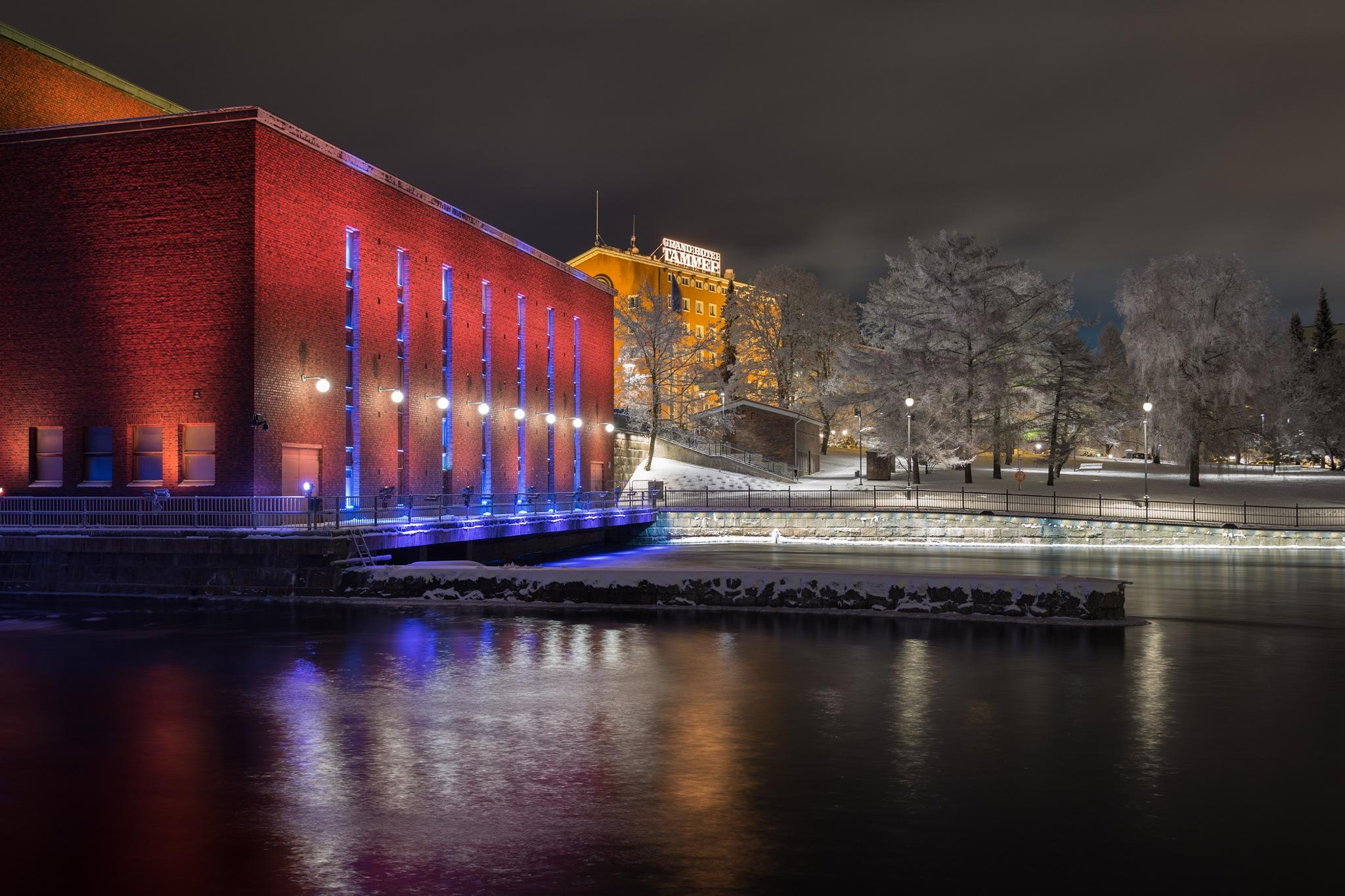 Tammerkoski Power Plant and Grand Hotel Tammer by Petri Pihlaja