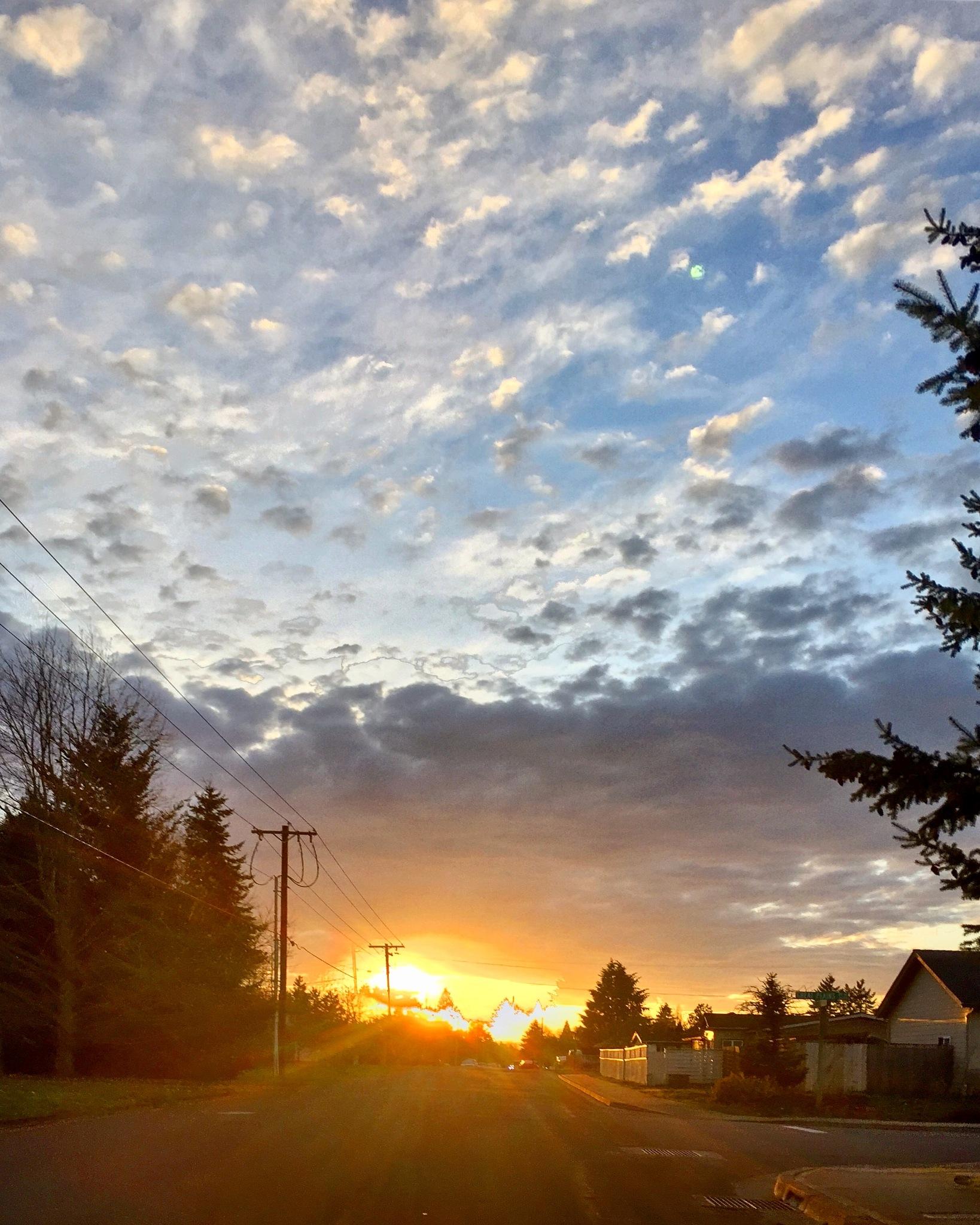 Cloudy Sunset  by Ngoc-Tram Tran