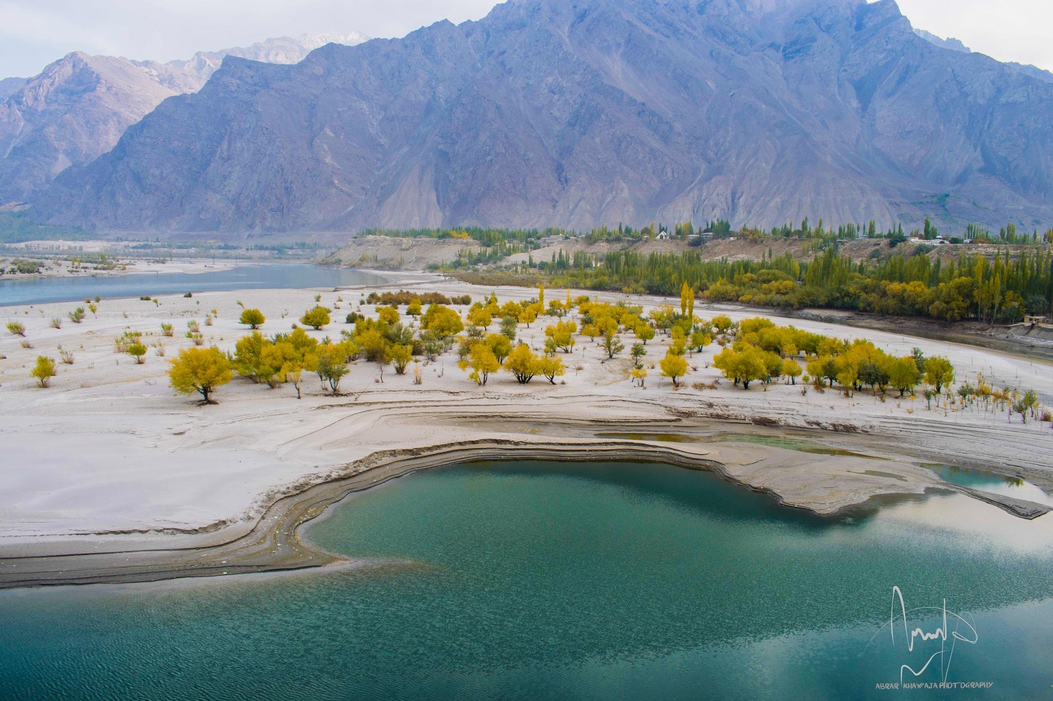 Indus River Skardu by Abrar khawaja