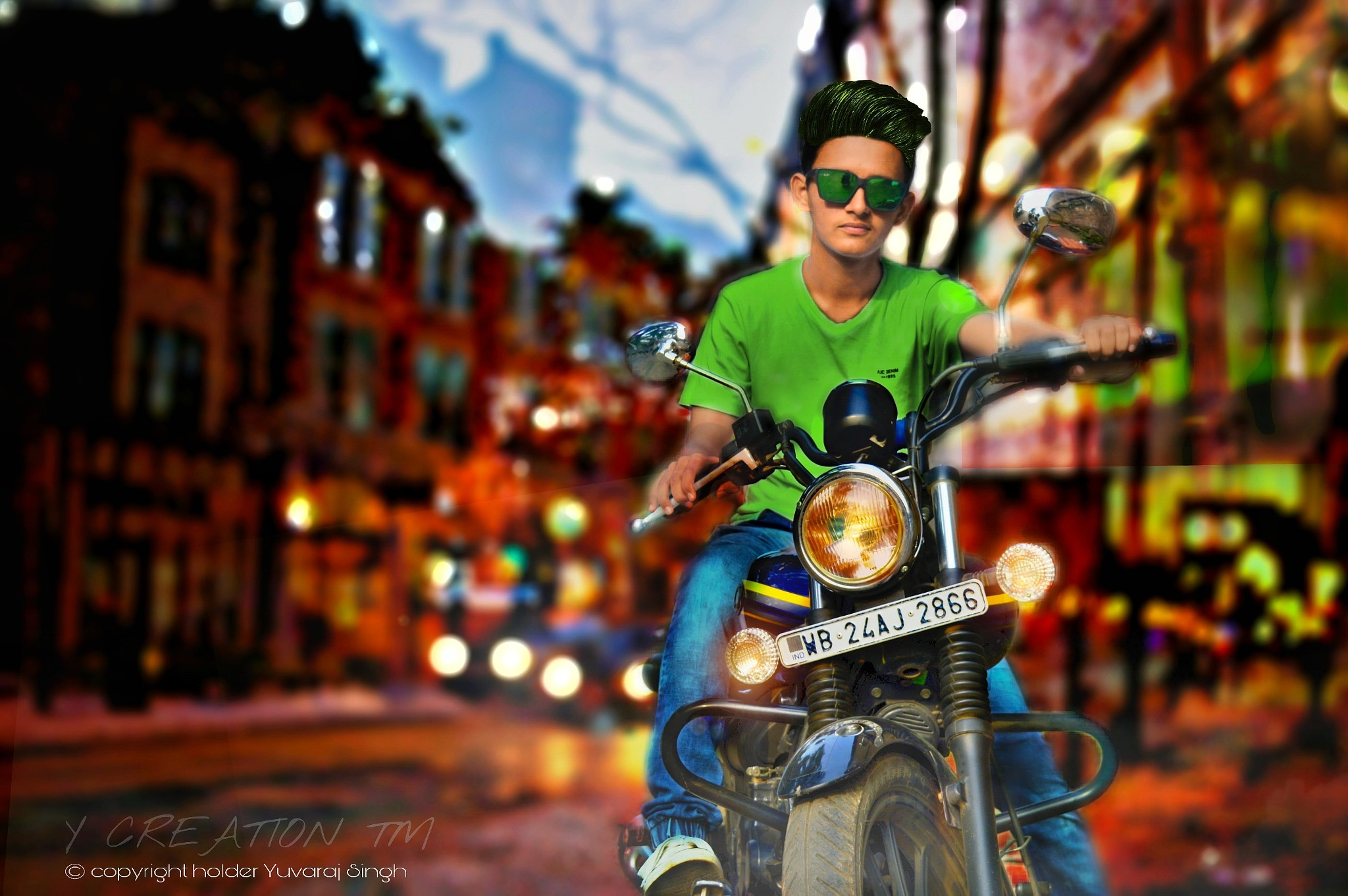 cool edit bike Y CREATION ™ by Yuvaraj Singh