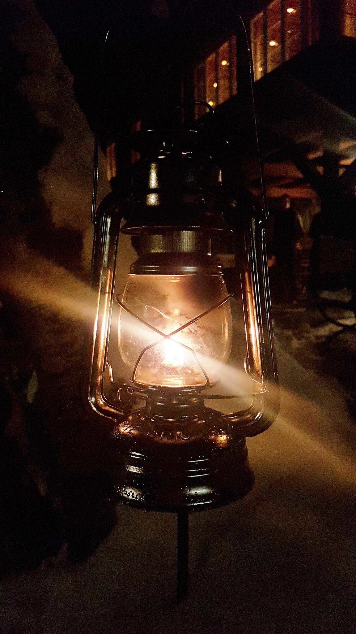 Lantern at night by Maximilian Ludwig