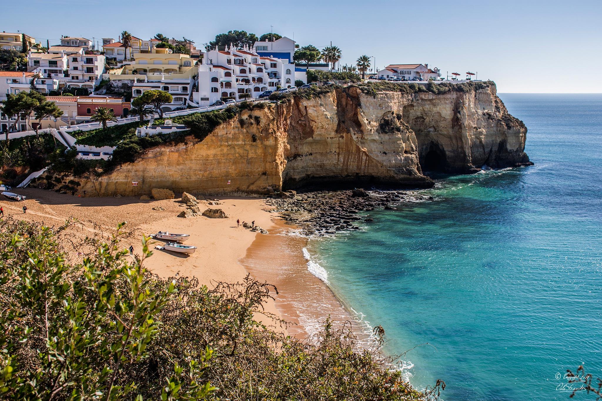 Beach Cavoeiro, Algarve by Orla Frank