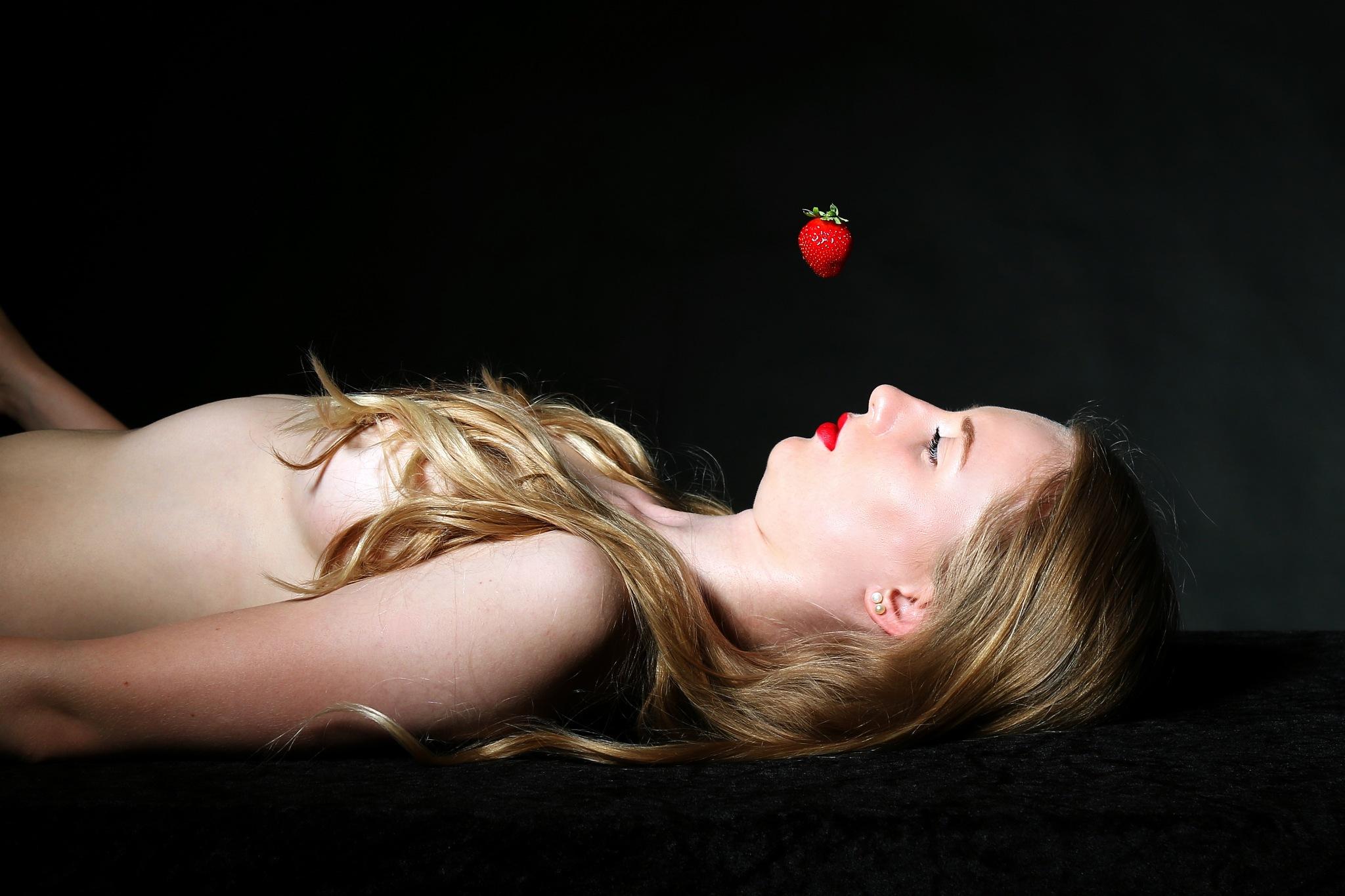 Falling Strawberry by Kim Fini Larsen