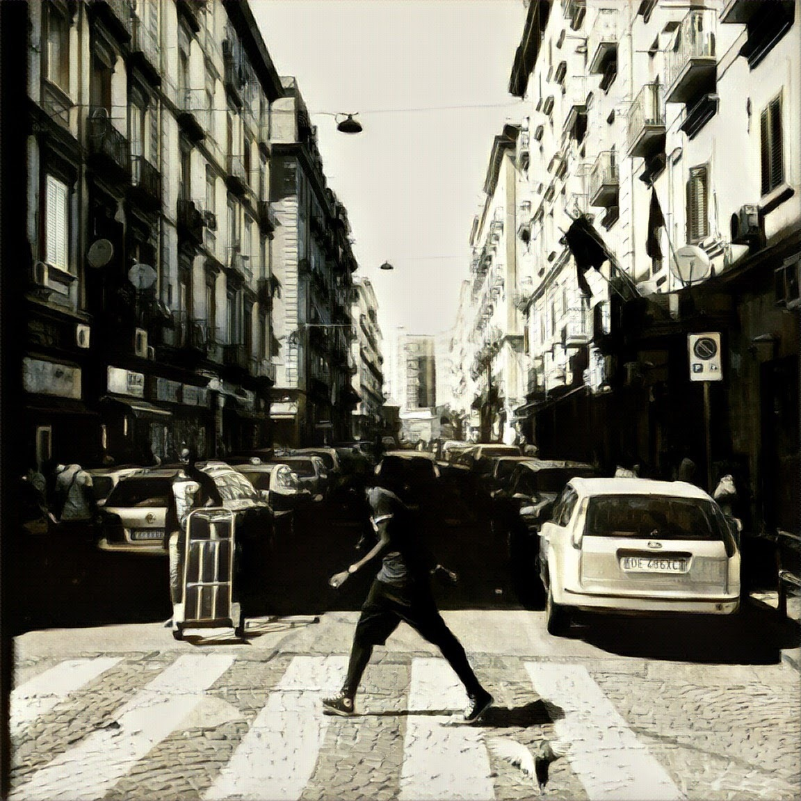 A Day in Napoli Naples Italy by Jean-Jacques Mouton