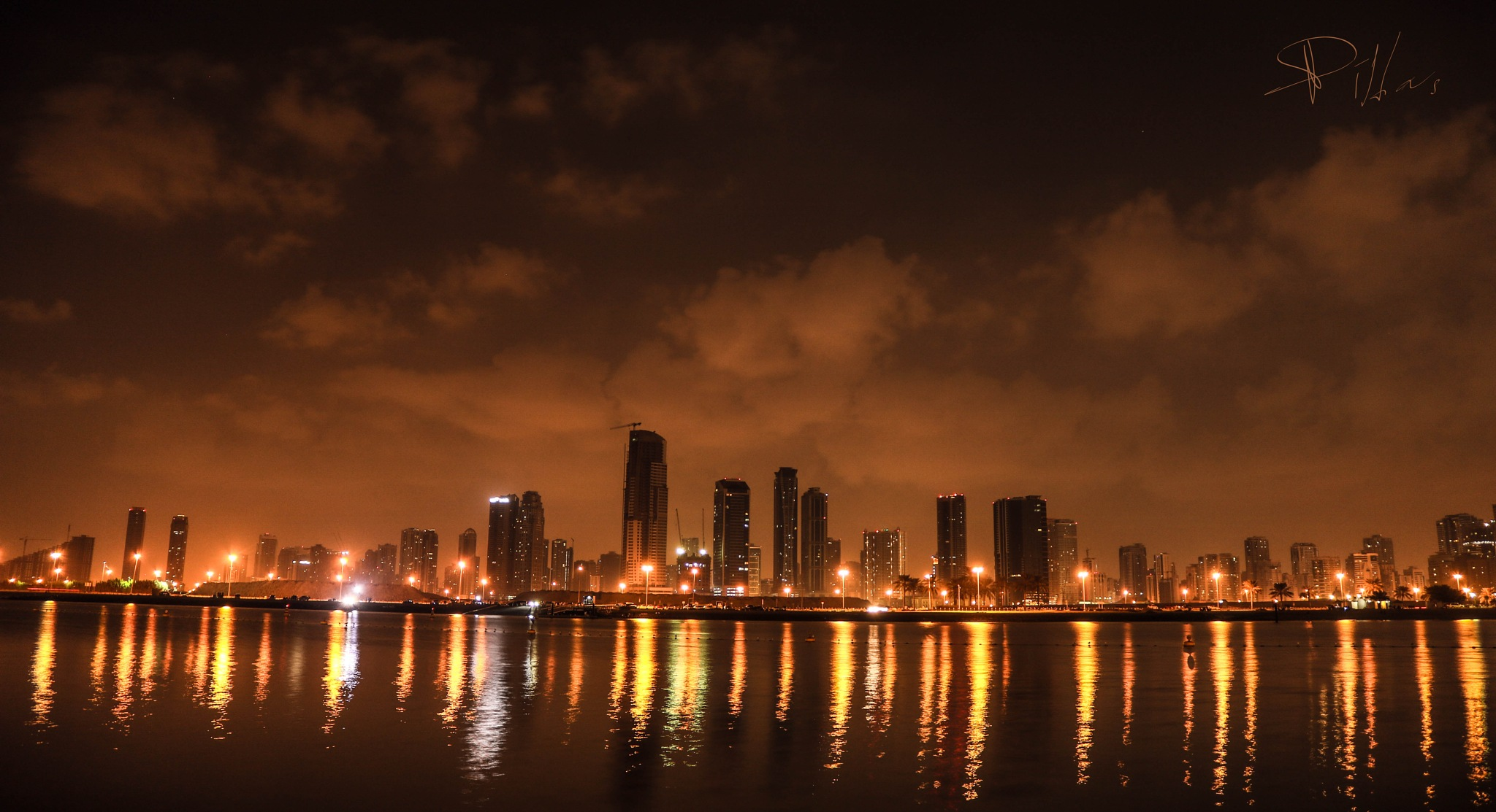 BEACH NIGHT VIEW by DIL