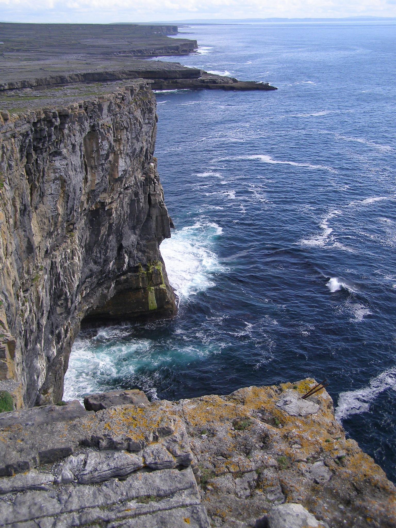 Cliffs at Dun Angus by John Banks