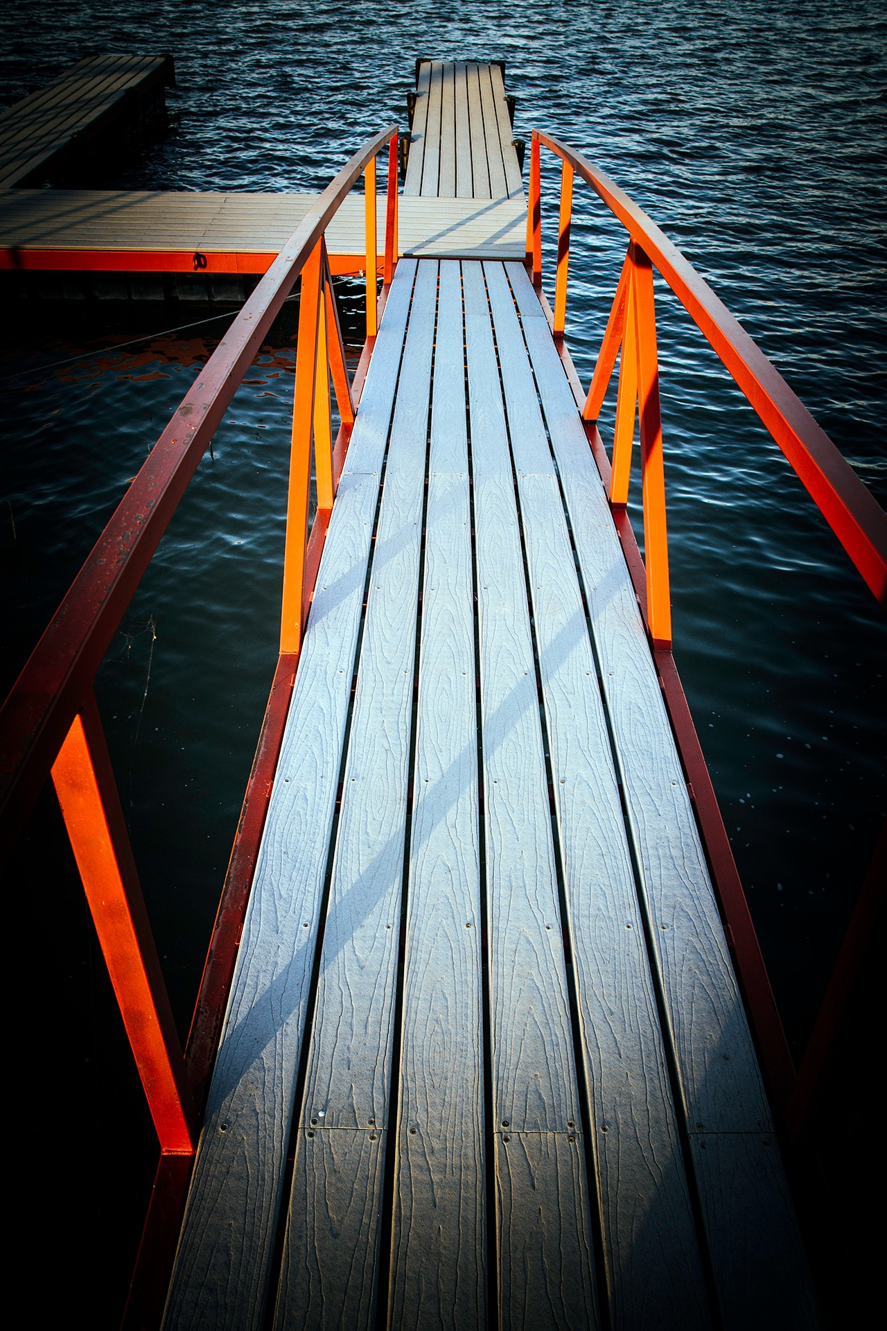 Boat Dock Walkway by Lane L Gibson