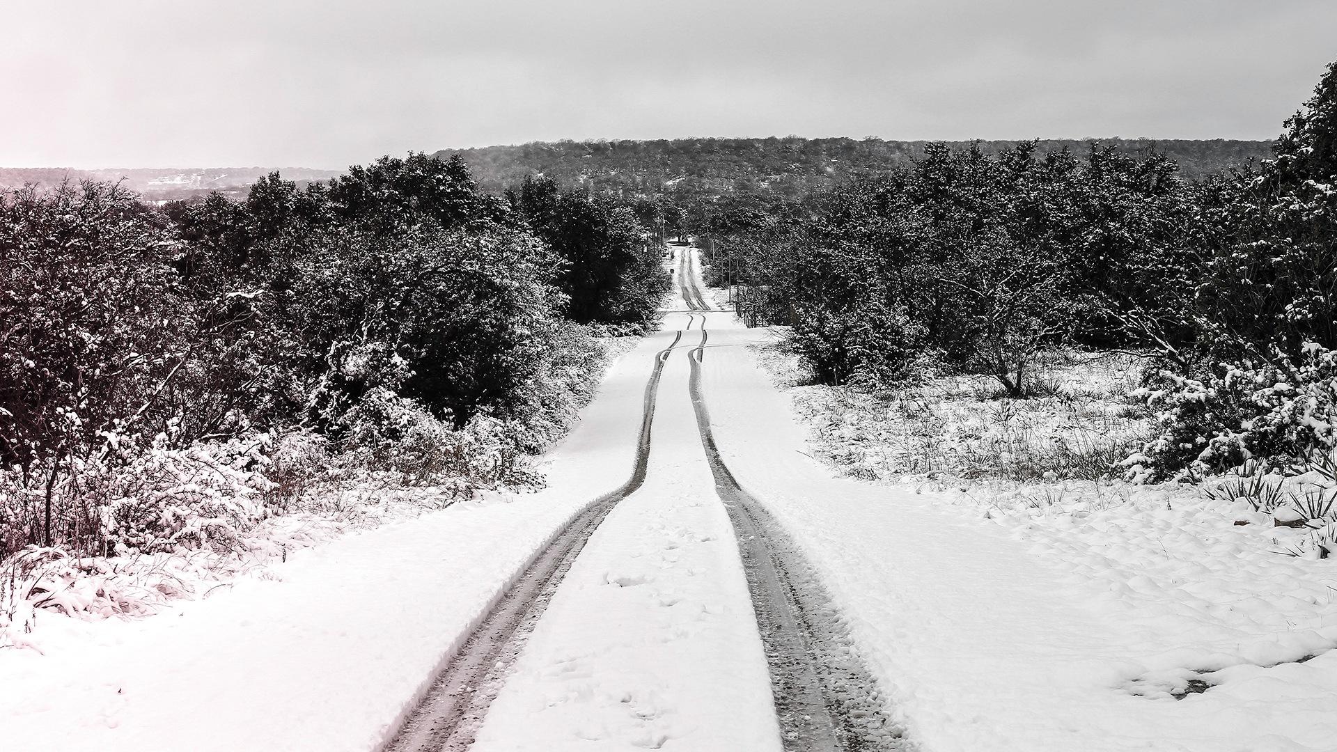 Snowy Road by Lane L Gibson