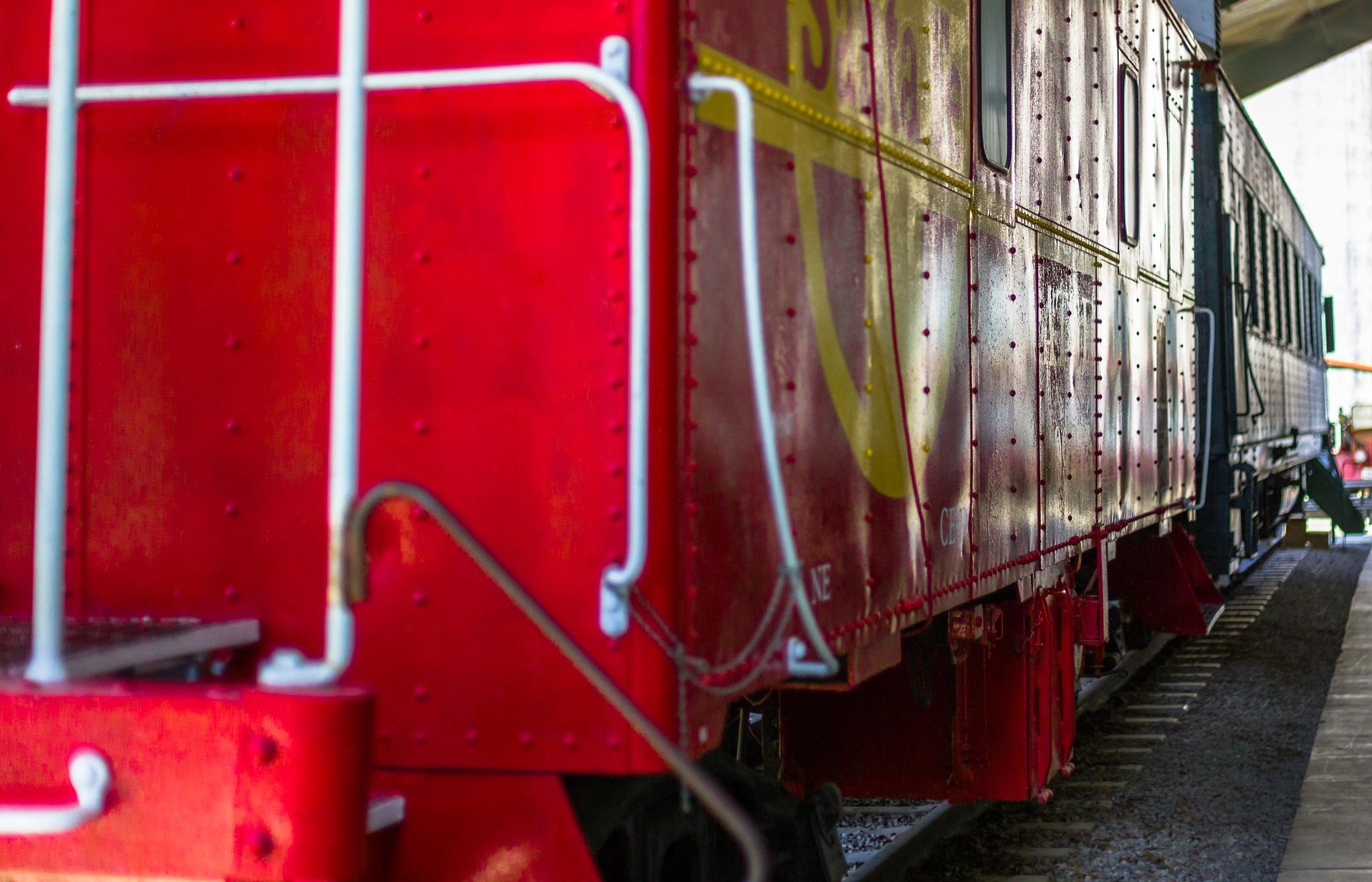 Red Passenger Car by Lane L Gibson