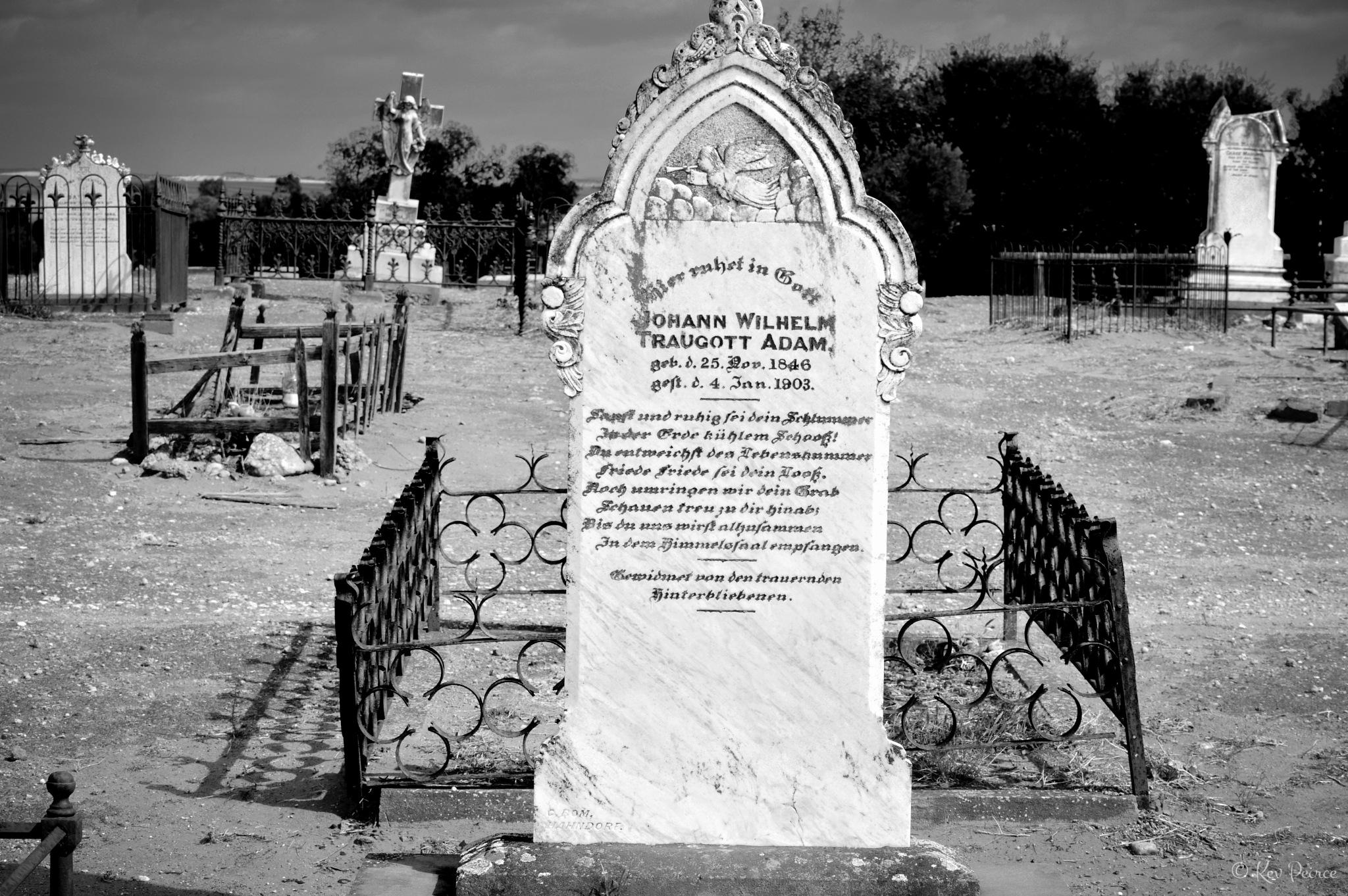 Mannum Cemetery by Kev Peirce