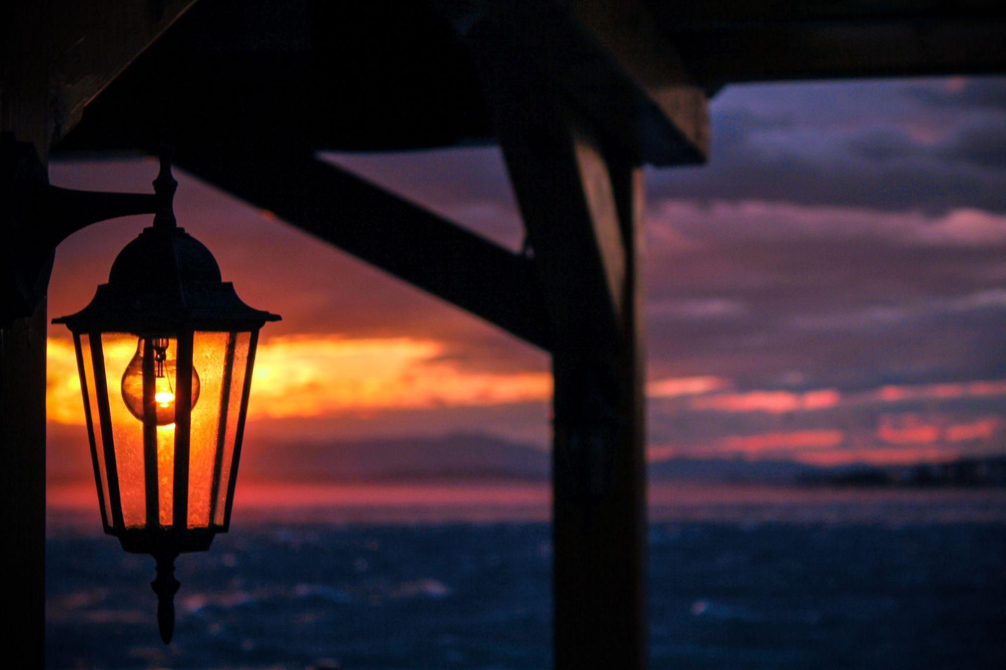 Light Bulb Sunset by Matej Paluh