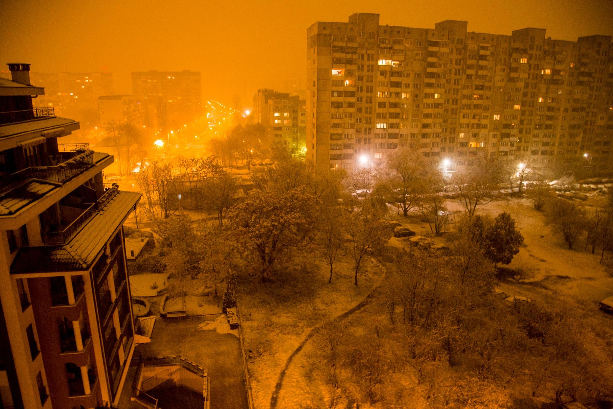 Snowy night by Antoniya Stancheva