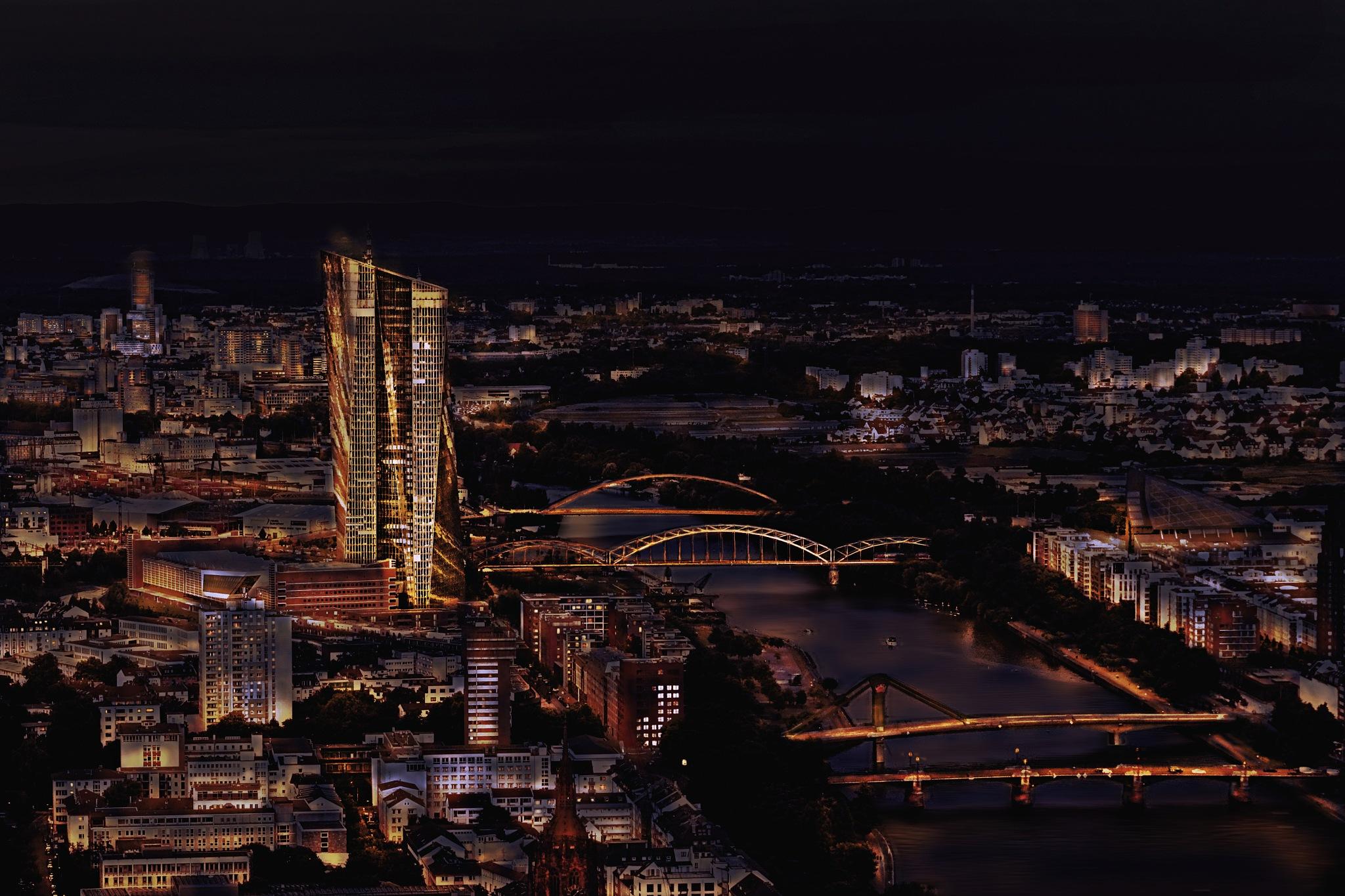 Frankfurt (Main) Night by Anja