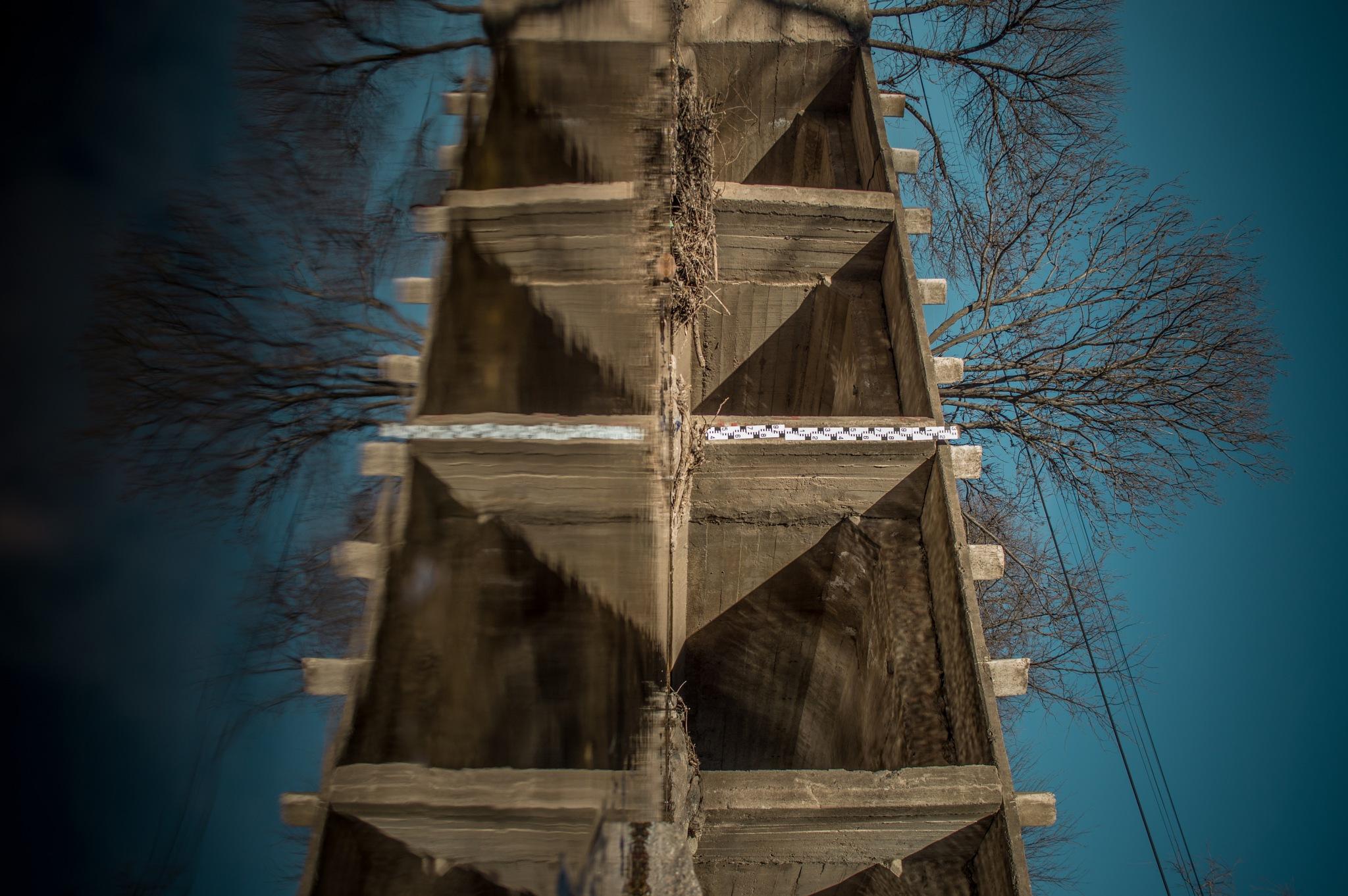 Photo in Architecture #bridge #water #reflection #art #blue #nikon #building #nature #architecture #shadows #symmetry