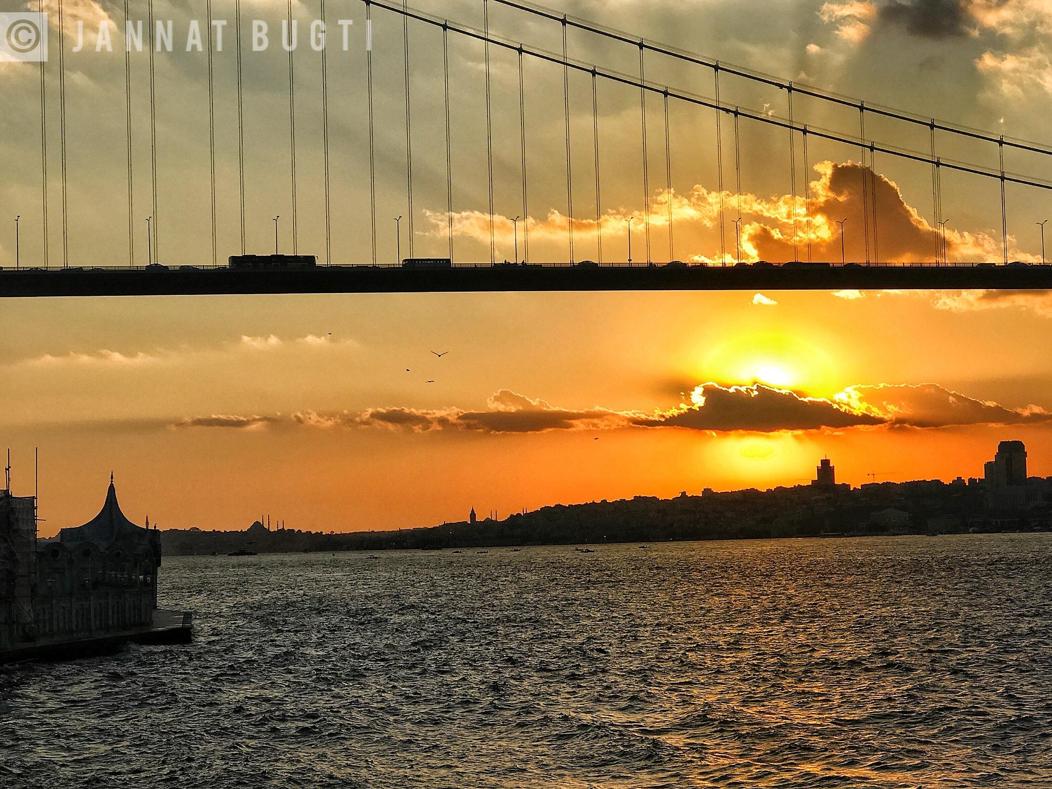 Bosphorous cruise by Jannat Bugti