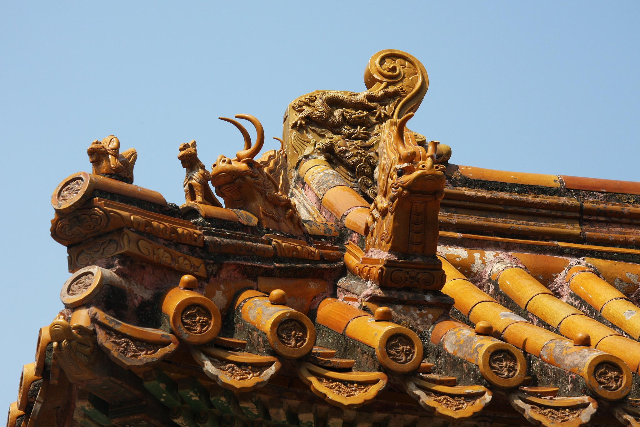 Detail, Ming tombs by Erik Kjær