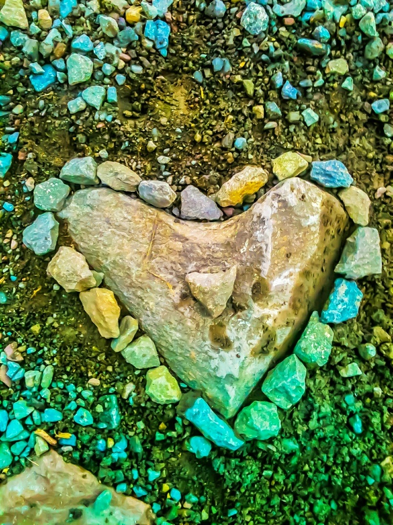 Heart of Stone with embellishments  by Lisa A Manco