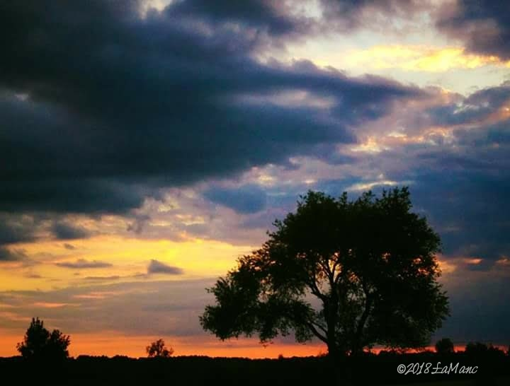Sunset/dusk at Valley Forge National Park PA by Lisa A Manco