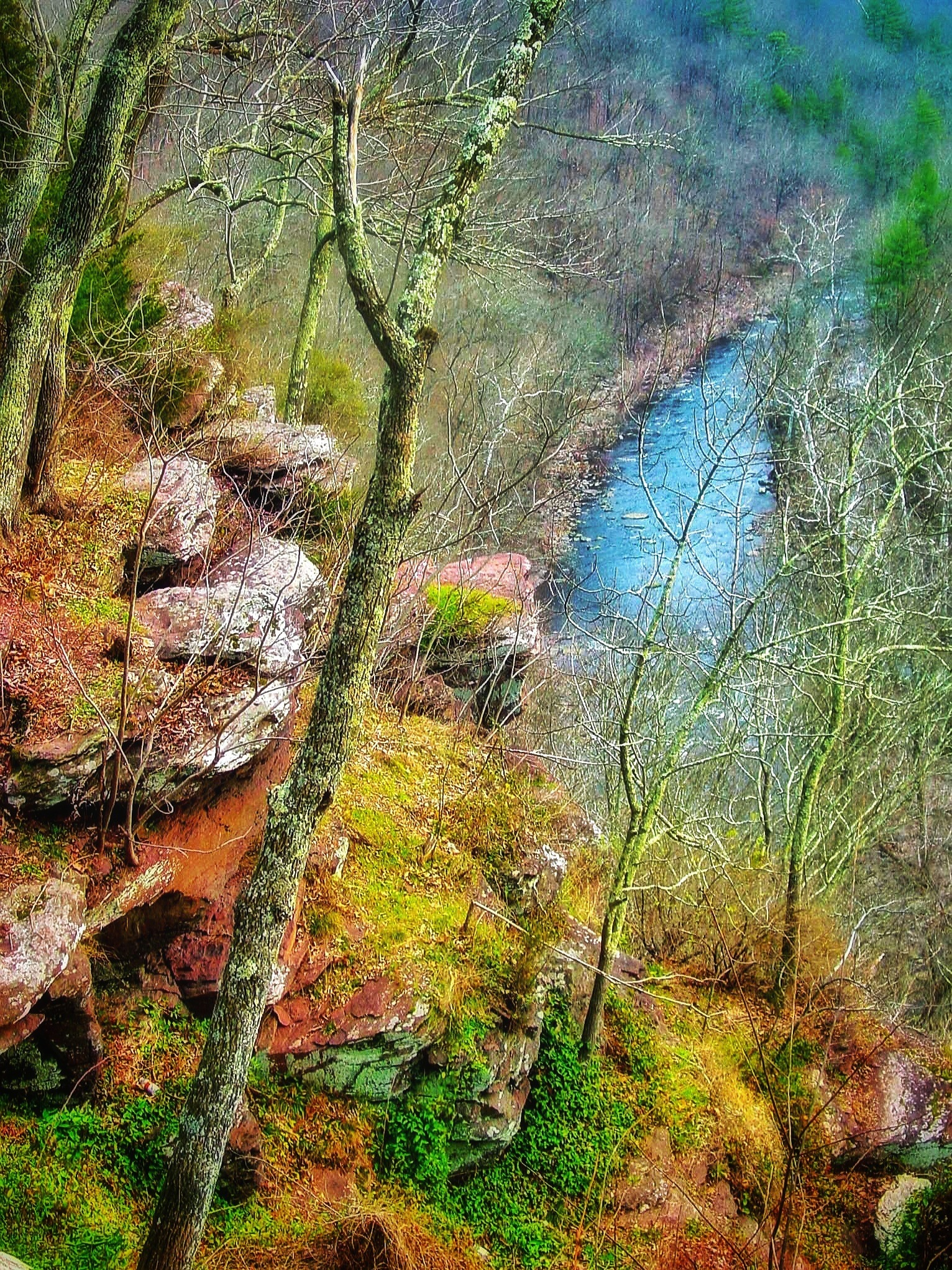 view from a cliff by Lisa A Manco ❤