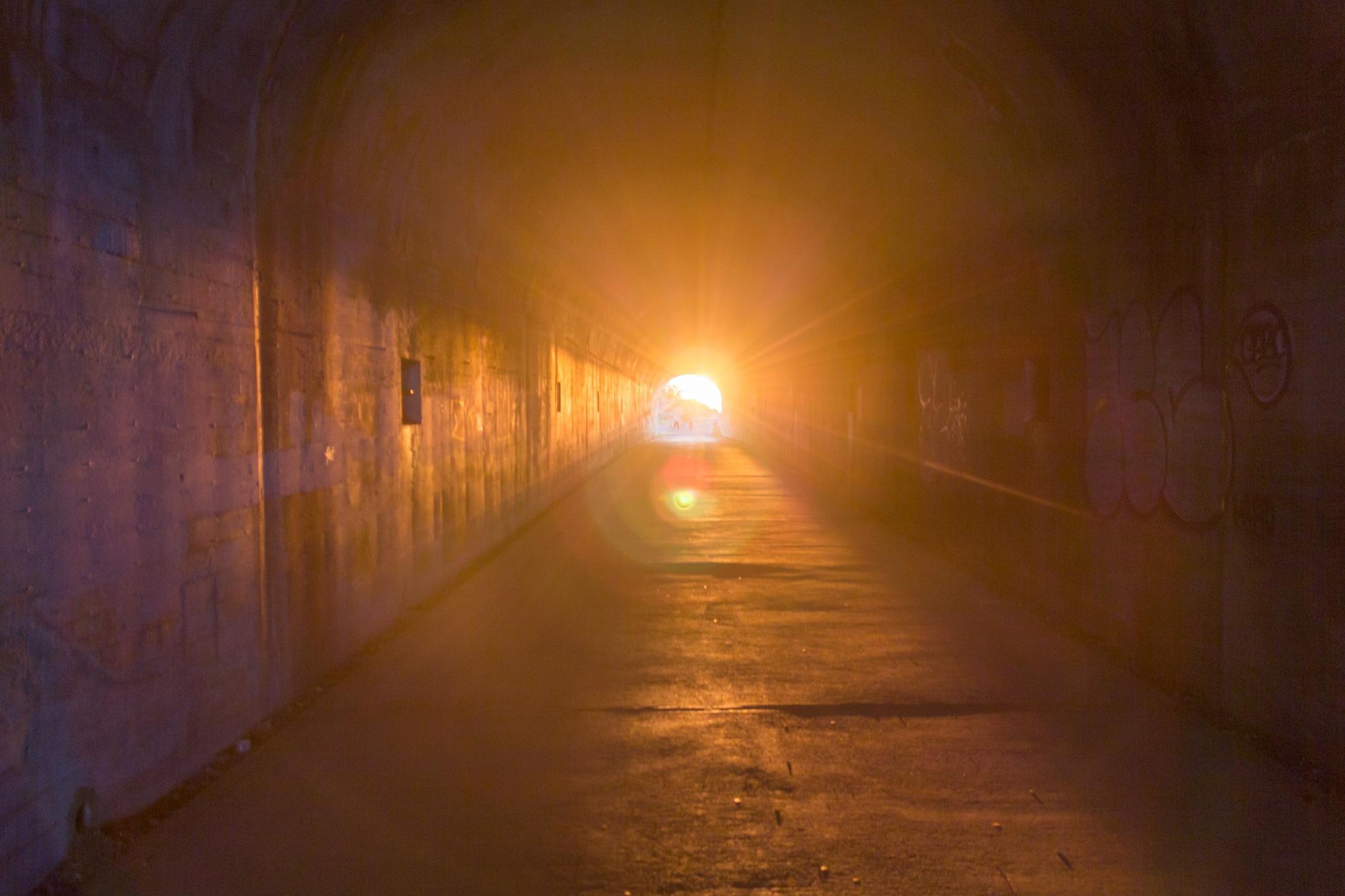 Sunset thru a Tunnel by Ruchir Parikh