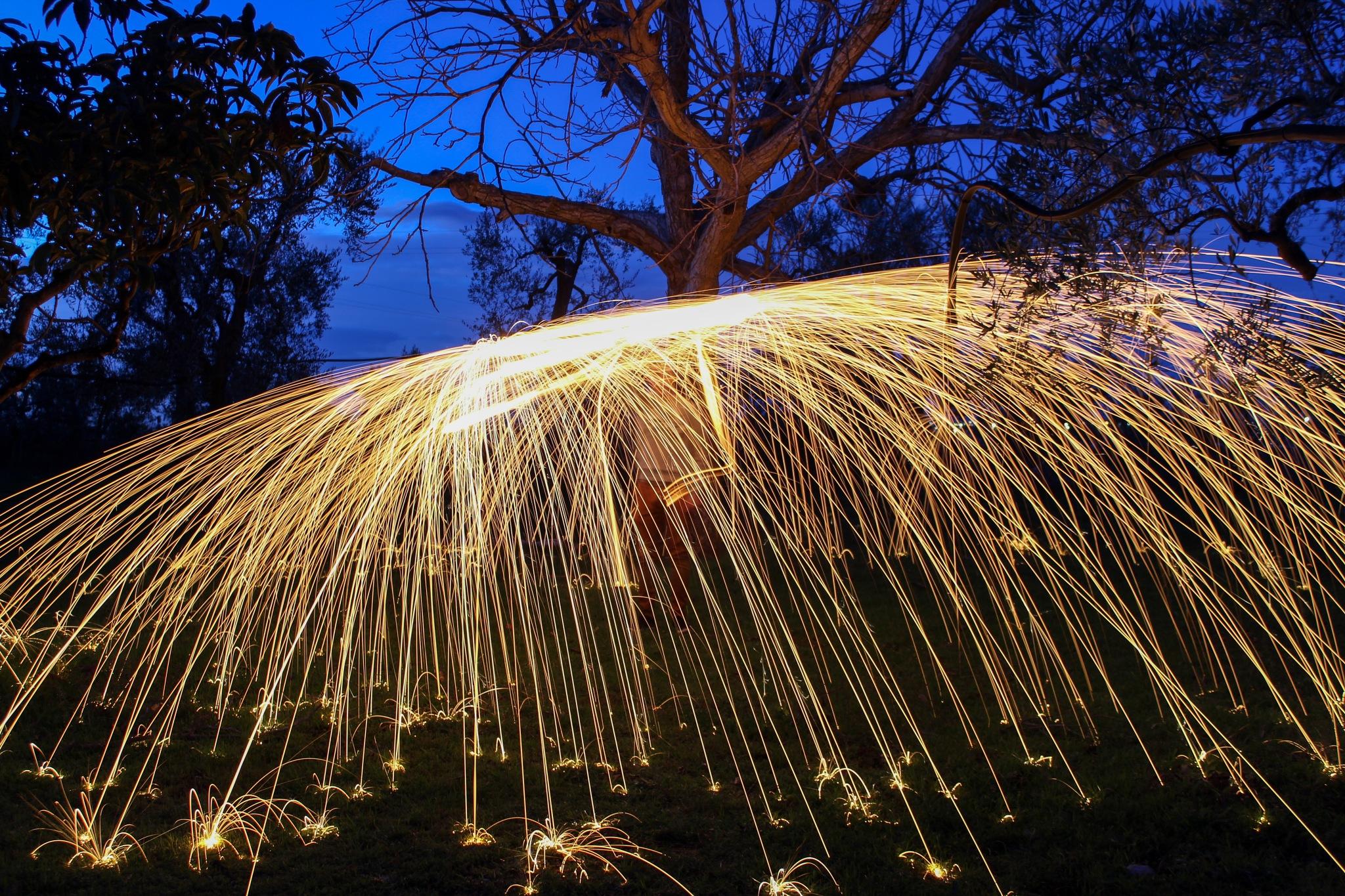 Long exposure steel wool - no filters  by notarnicola10