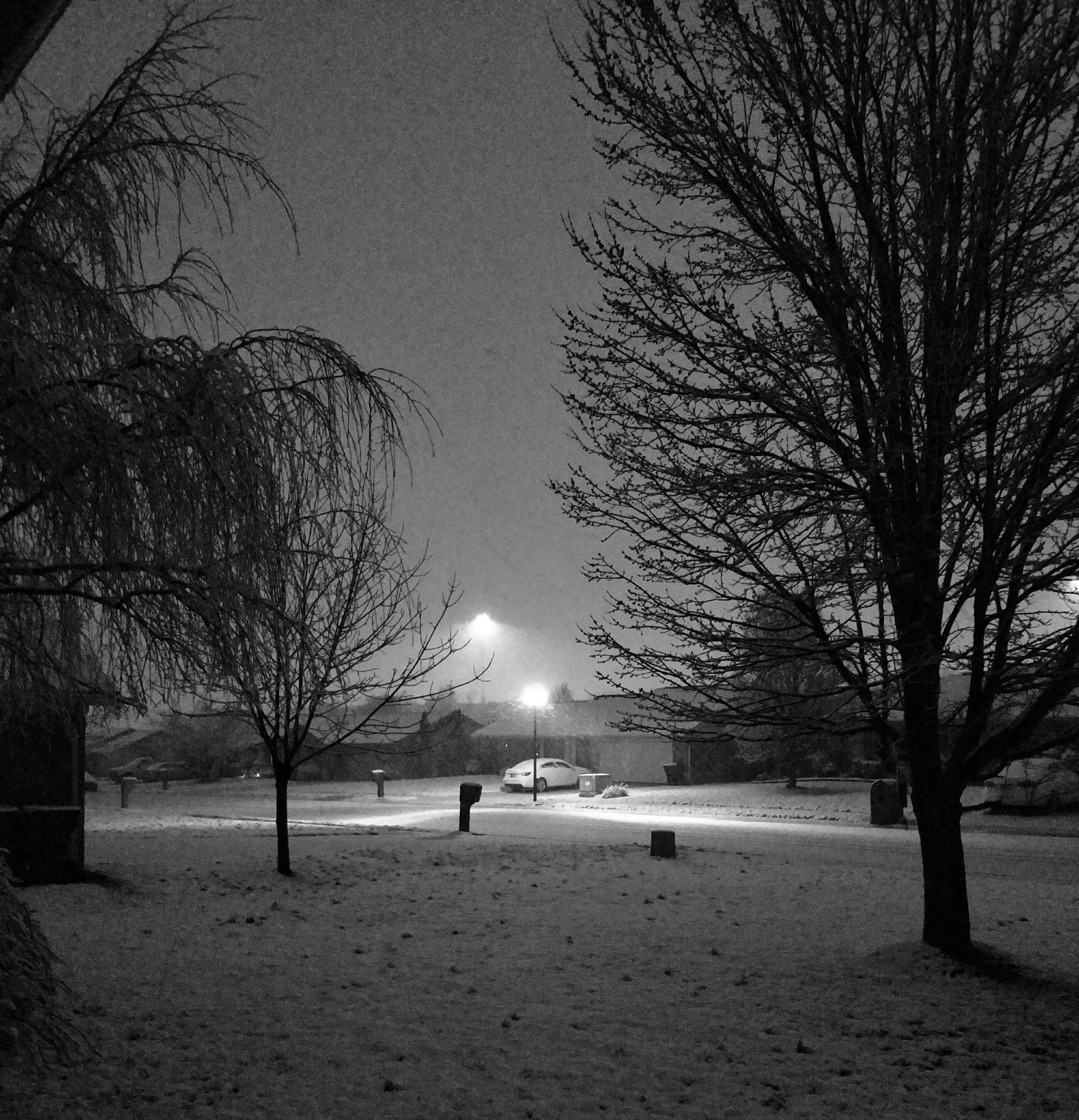 Snowy Night by Randy C. Nichols photography