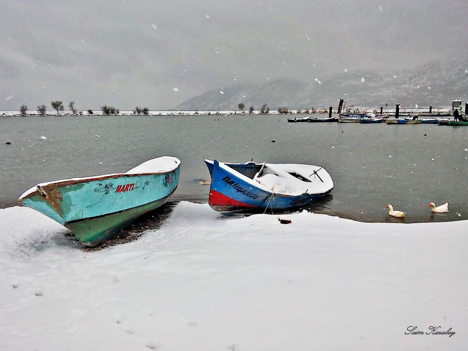 Lake and snow by Antalya Rental Cars