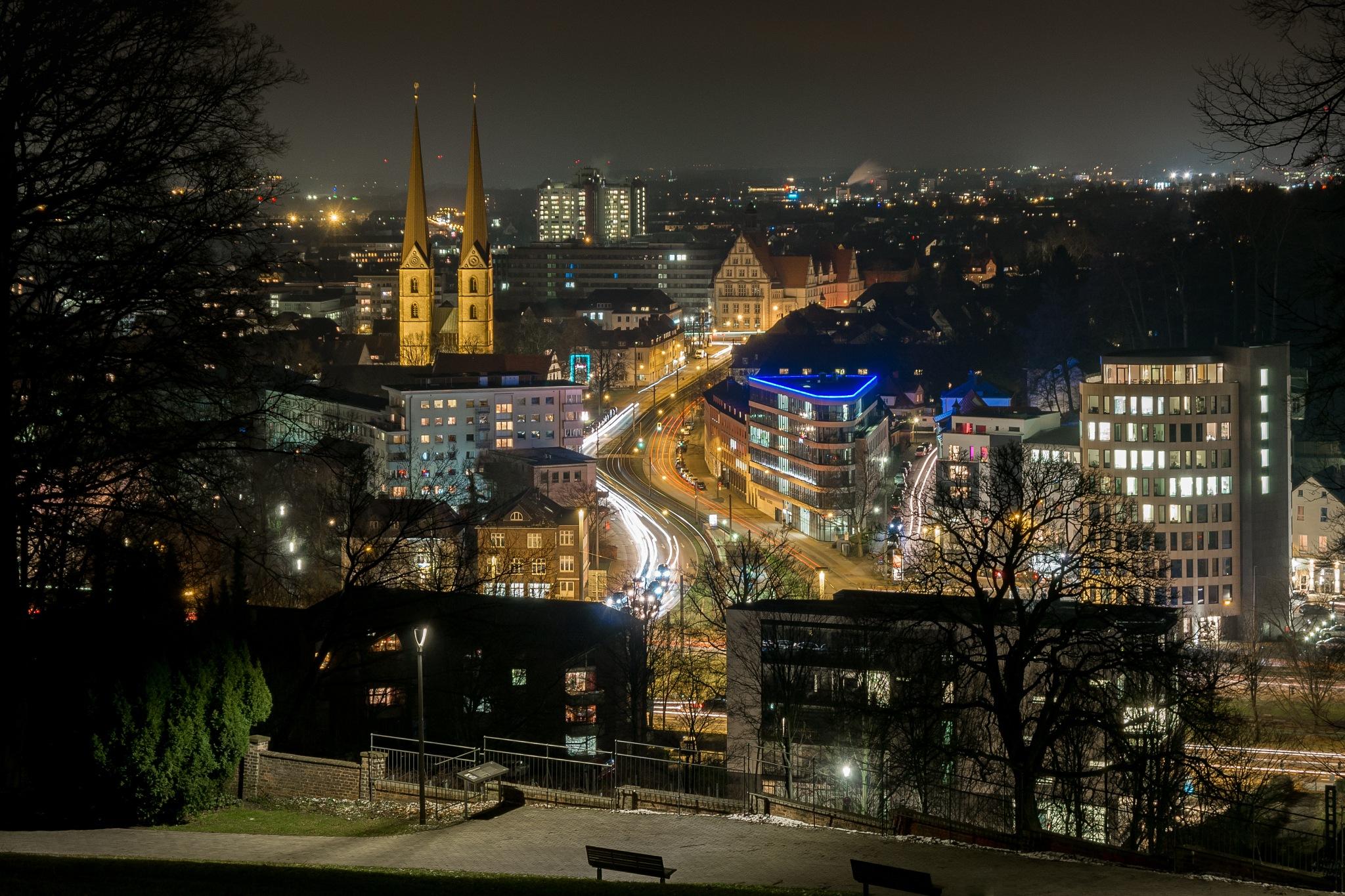 Bielefeld by night by bielefoto (Oliver Isermann)
