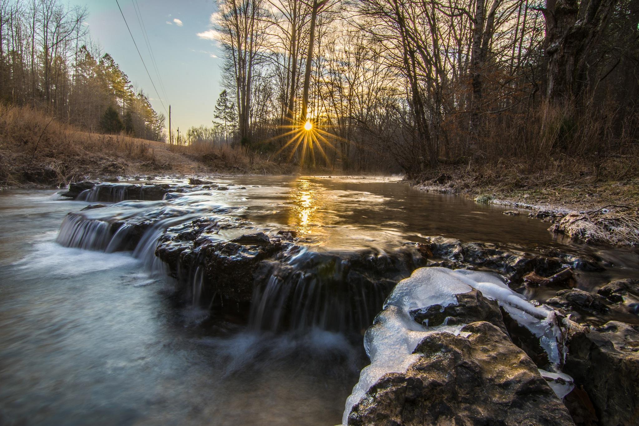 Cold dawn over Roanoke Creek by Tony Bierman