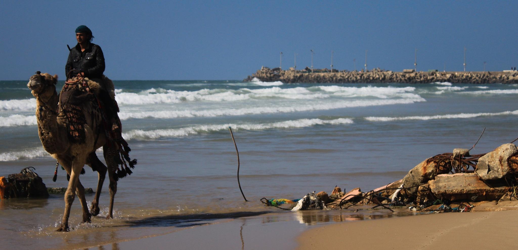 Gaza beach by Mahmoud Snounu