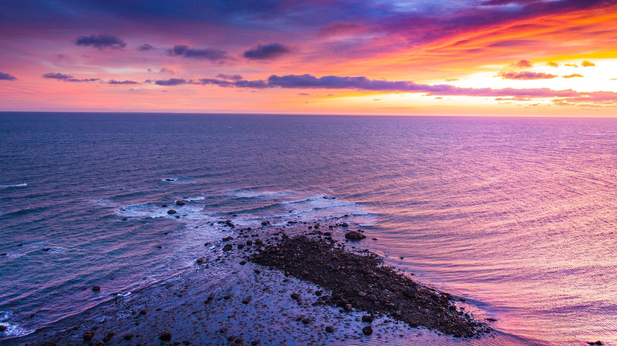 Sunrise at Manomet Point by HawkVisuals