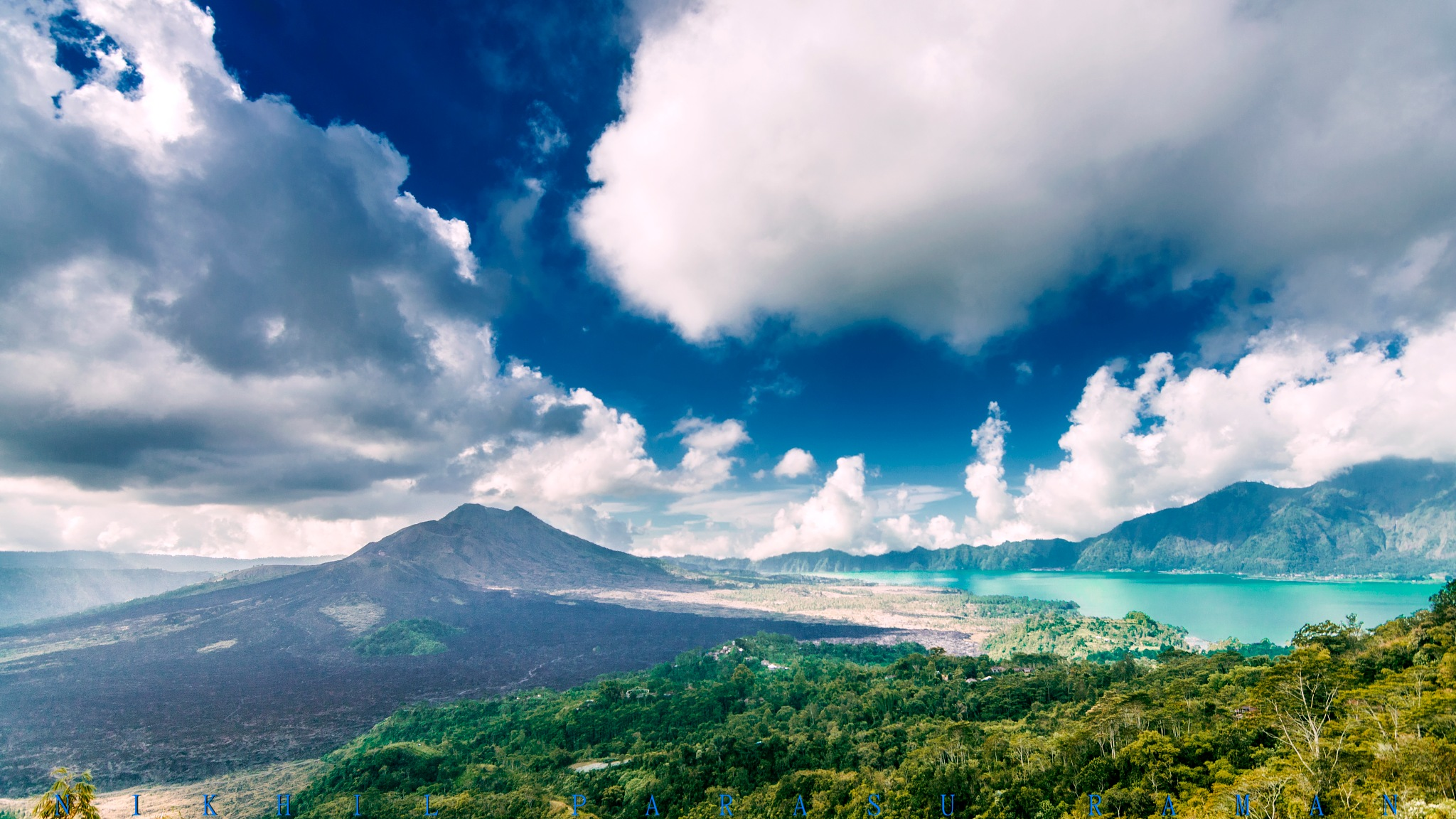 Mount Batur from Kintamani by nikhil1205