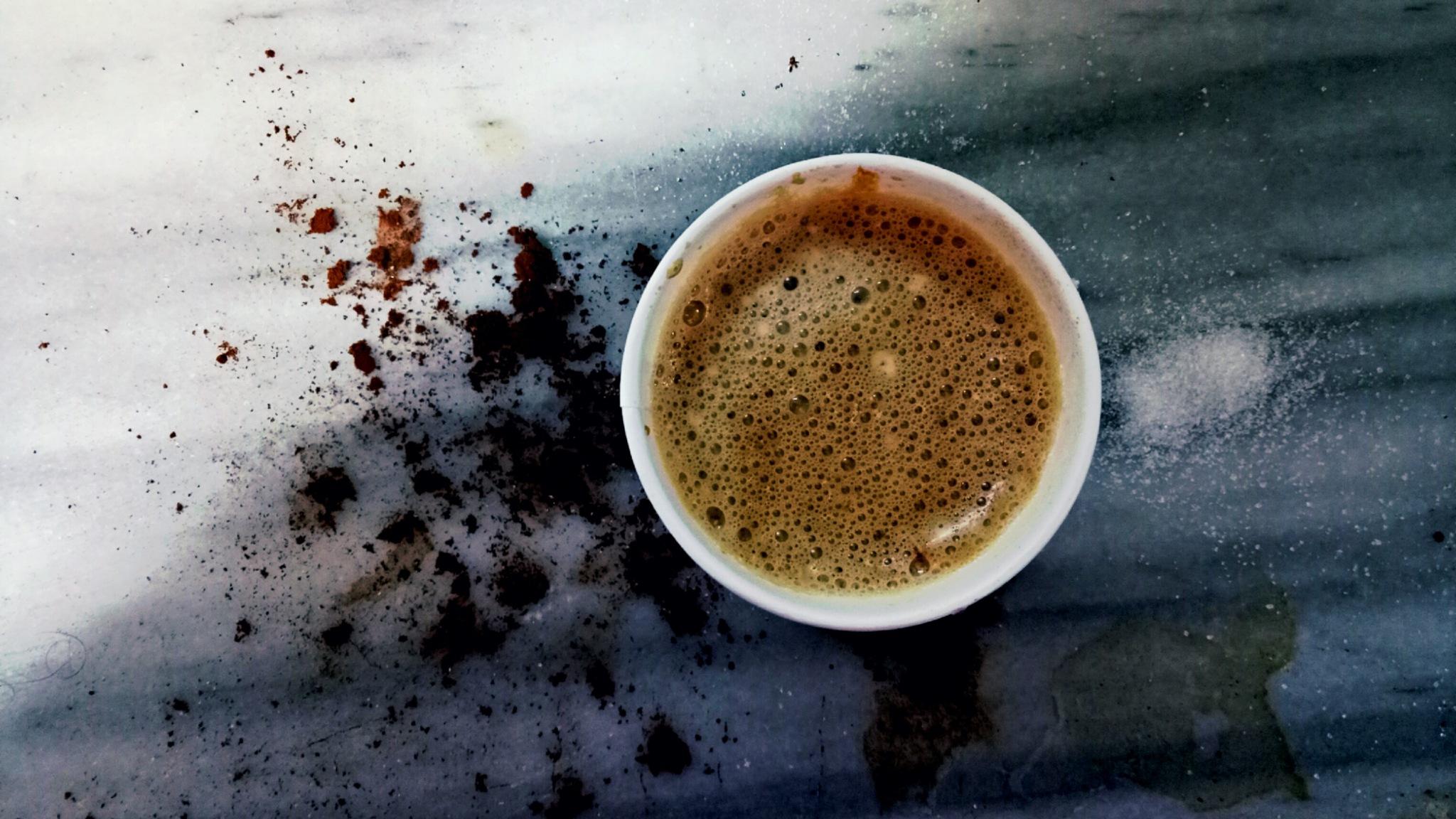 coffee making mess  by SaadOz Mahadeen