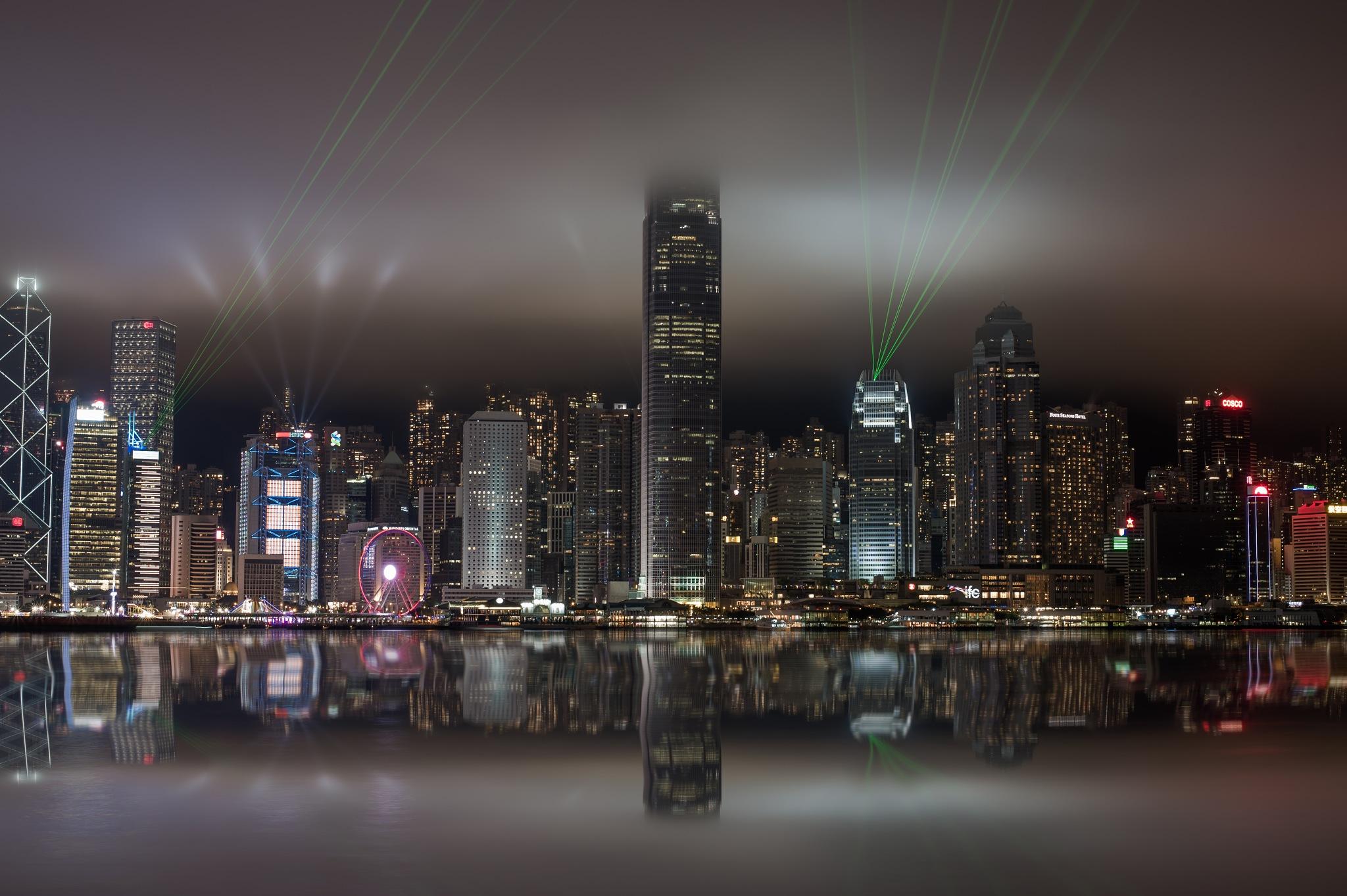 Laser Show in Hong Kong by Anton Kogan