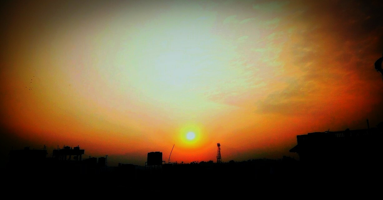 #sun_set_from_Kathmandu, Nepal by Subash Tiwari