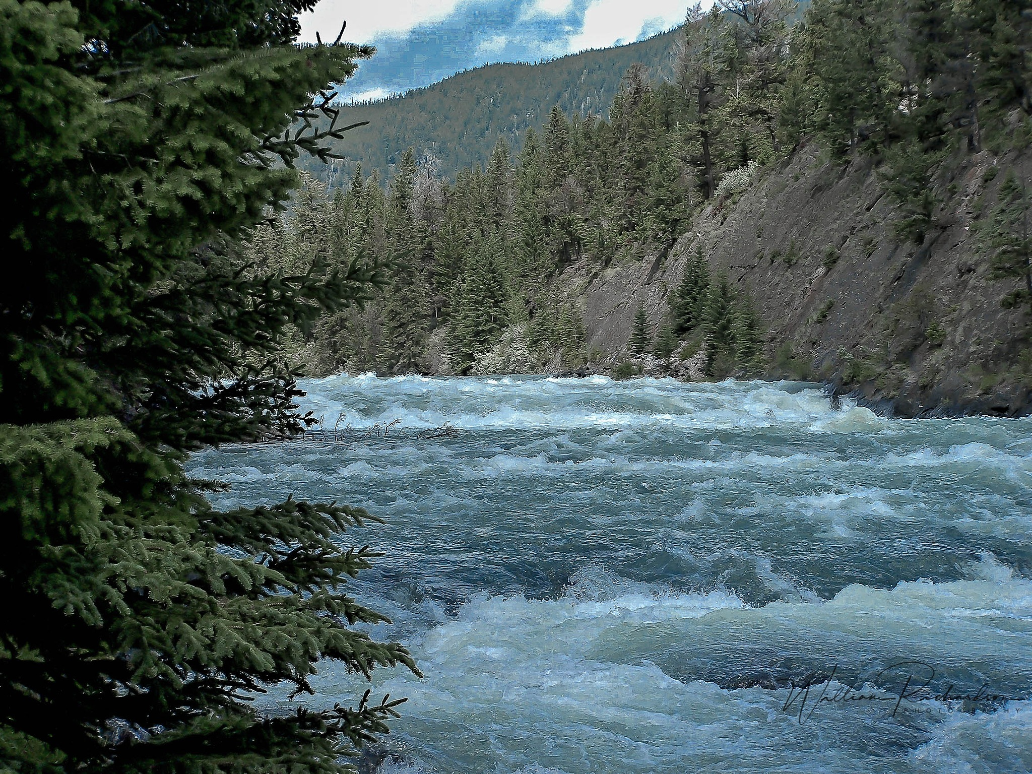 Scenic Bow River by William Richardson