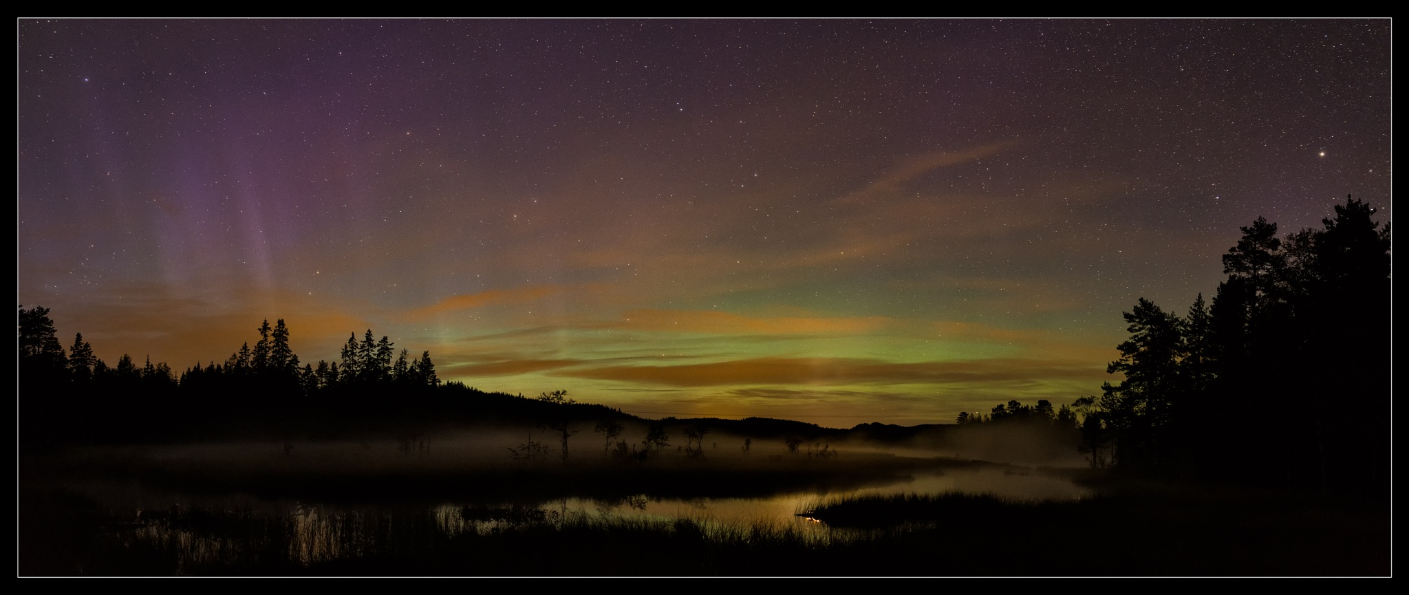 The first sign of northern light this year at my place. by Kristen Tande