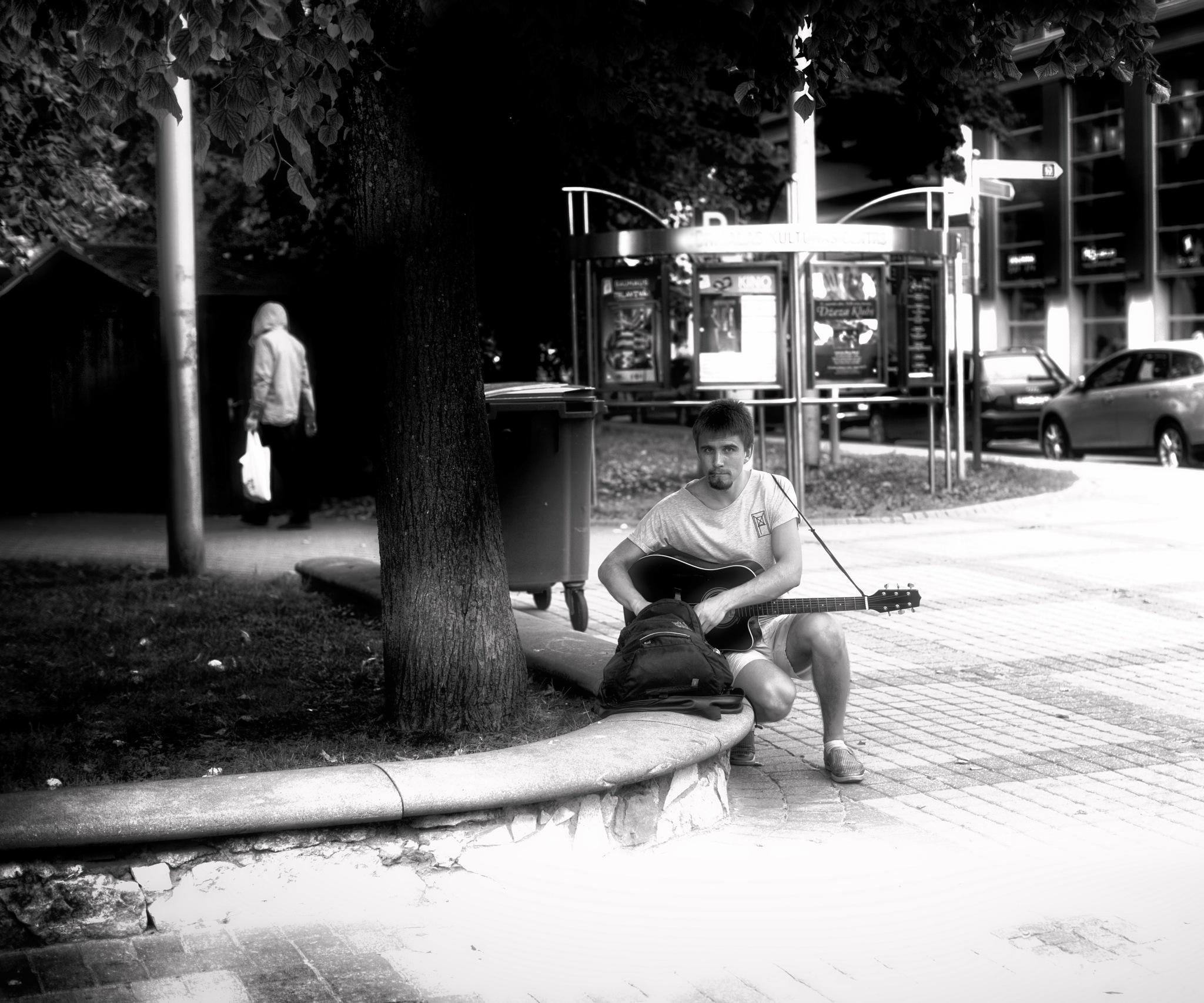 Street musician... by Aleksandrs Drozdovs