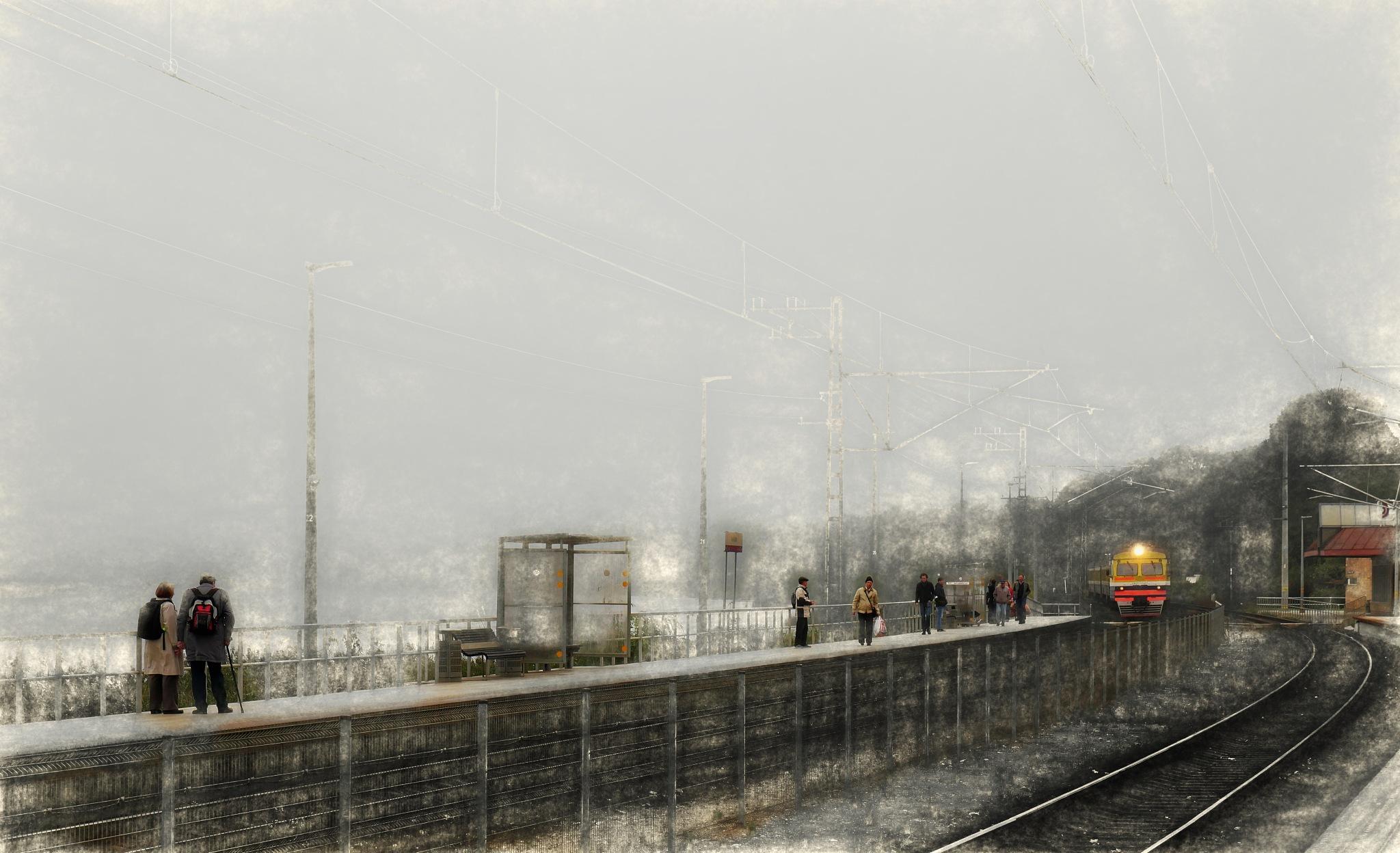 Railway station... by Aleksandrs Drozdovs