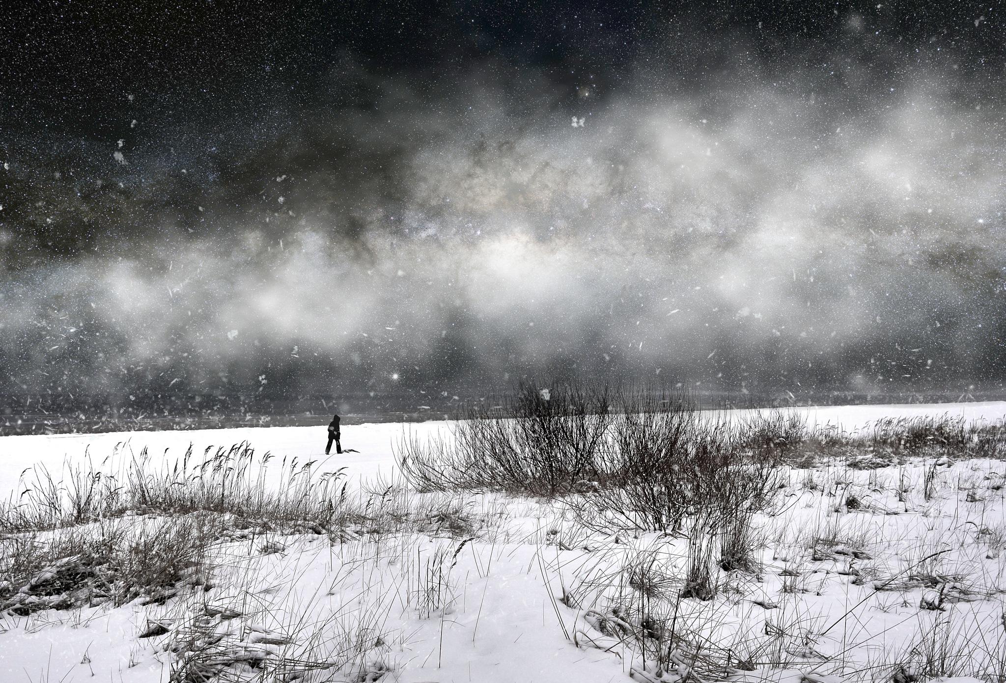 Blizzard... by Aleksandrs Drozdovs