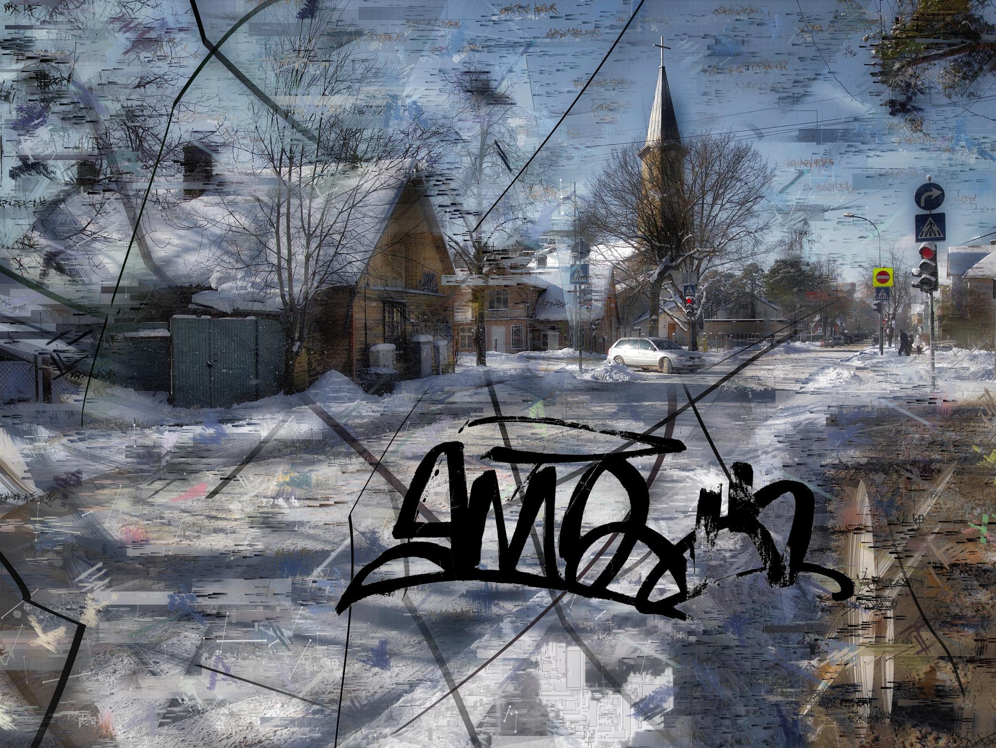Graffiti on glass... by Aleksandrs Drozdovs